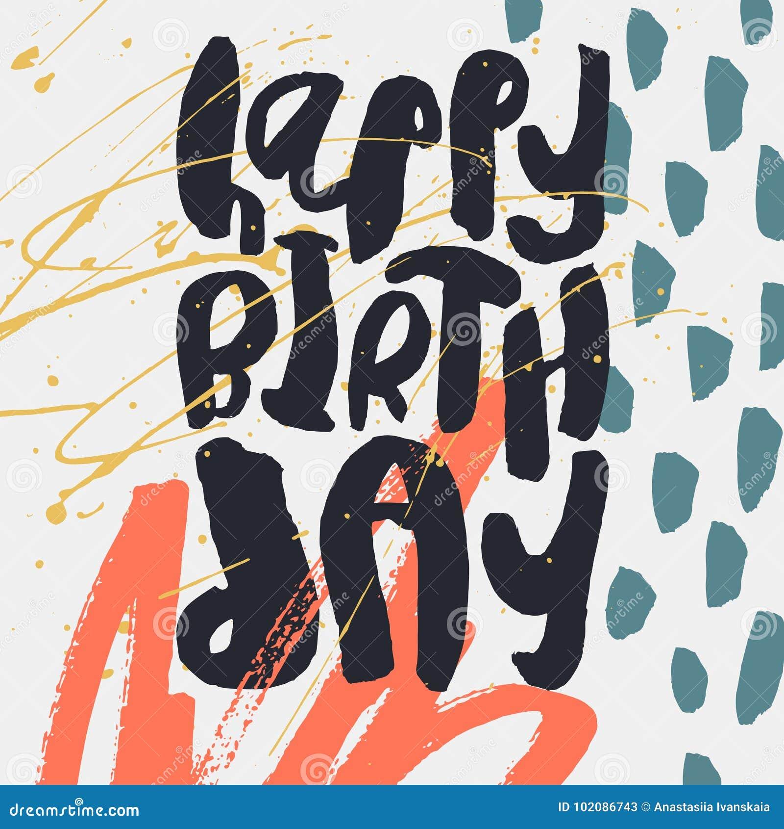 creative happy birthday card template stock vector illustration