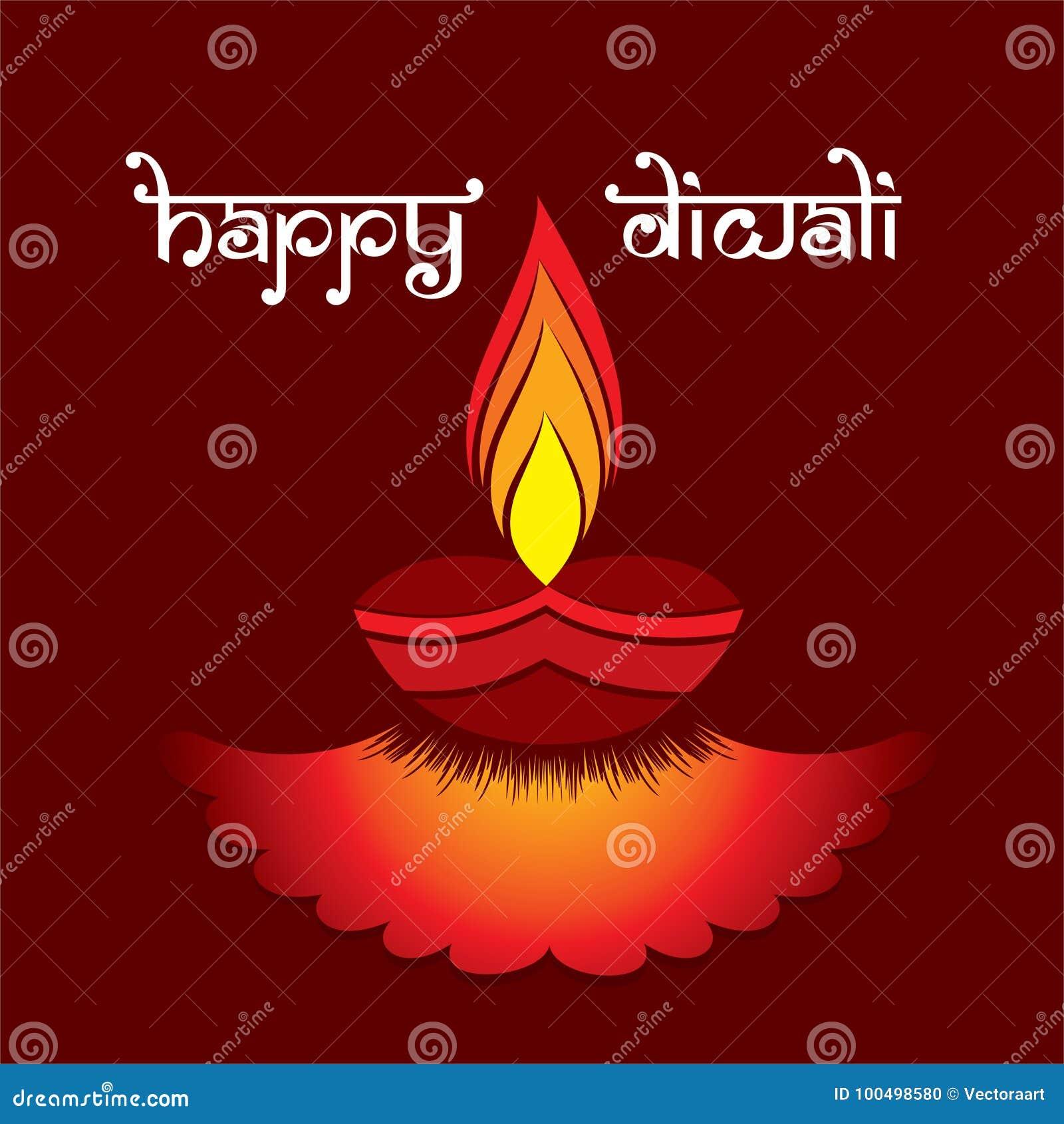 Creative happy diwali festival greeting design stock vector a creative greeting card with decorated diya indian diwali festival celebration design m4hsunfo
