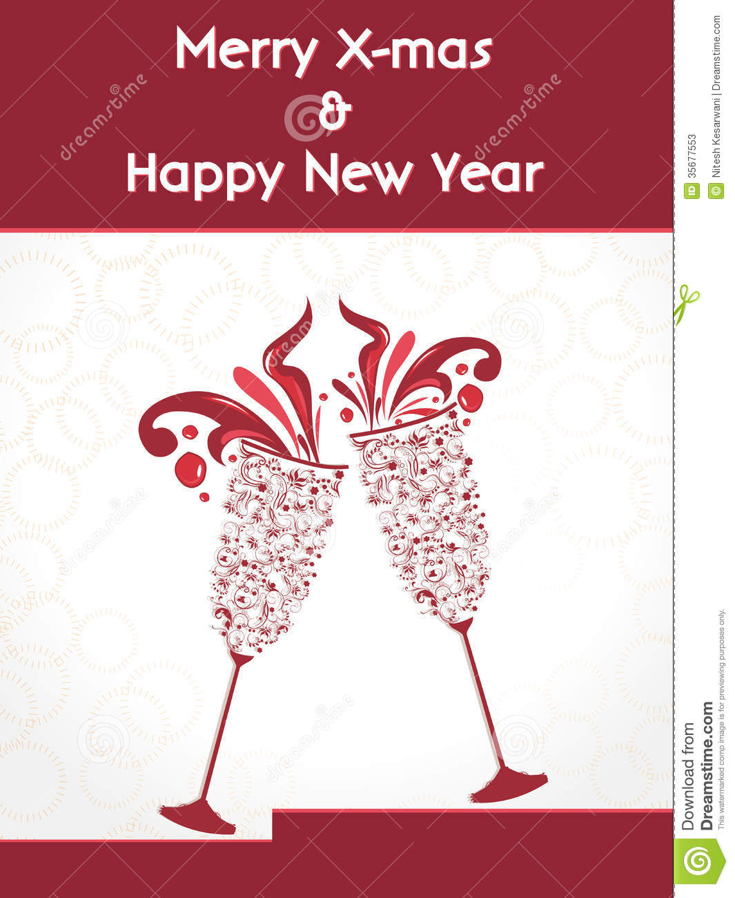 Creative Happy New Year 2014 Design With Champagne Glasses ...
