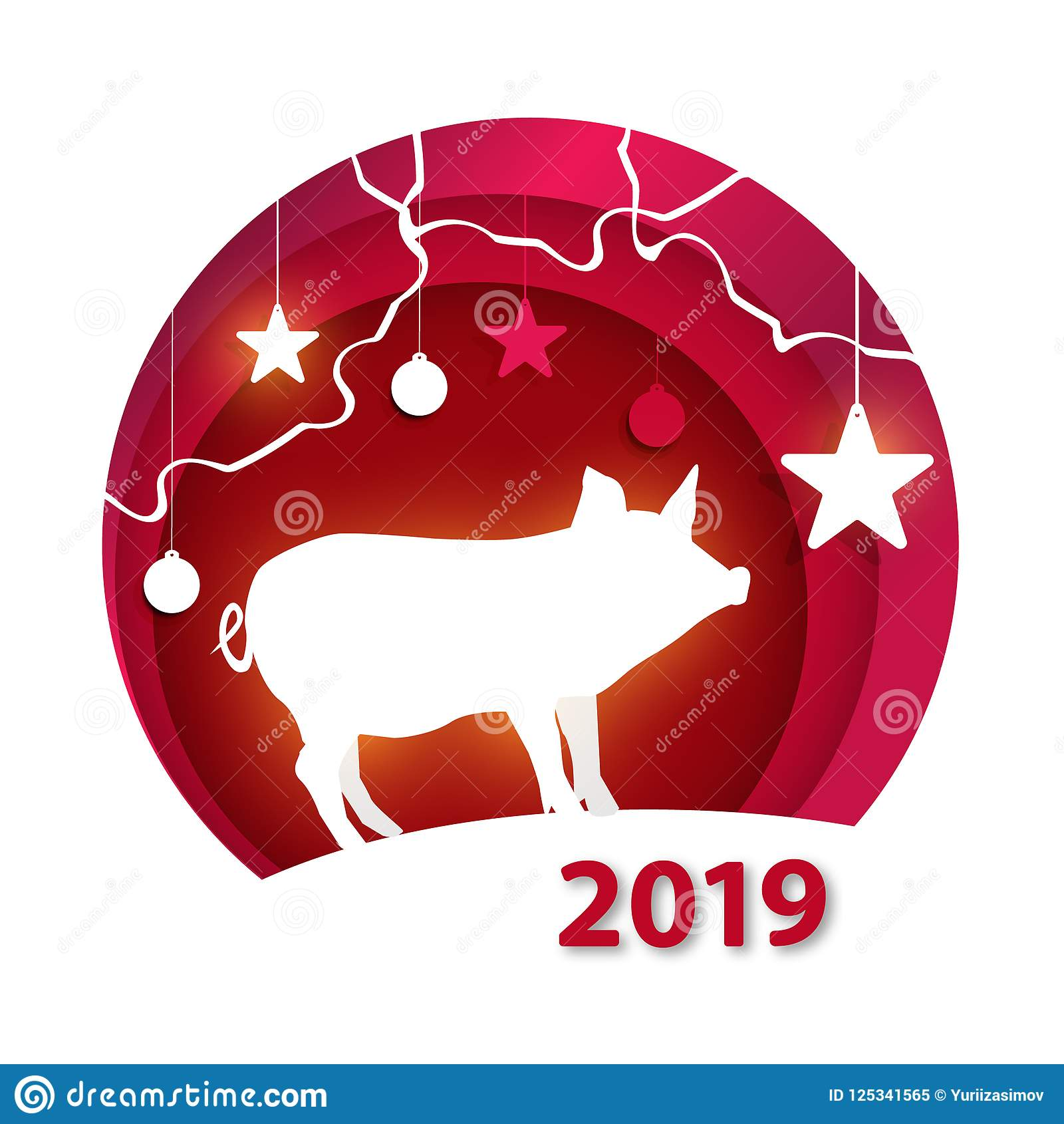 creative happy new year 2019 design happy new year 2019 paper art and craft style happy new year banner with 2019 numbers on bright background