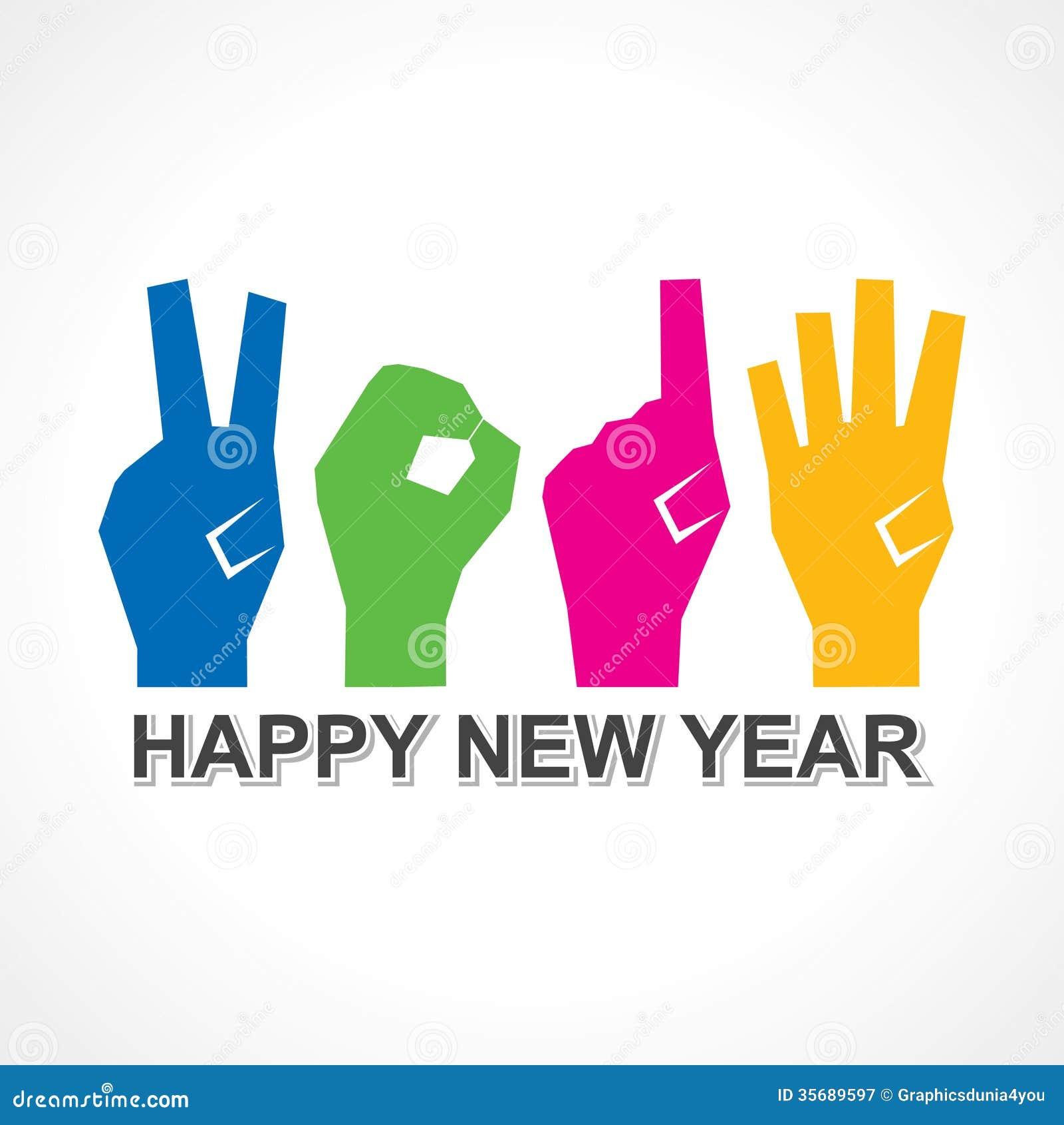 Creative Happy New Year 2014 Design Stock Vector