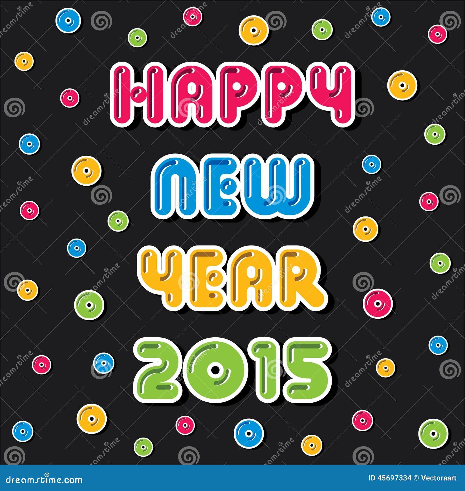 Creative Happy New Year 2015 Greeting Design Stock Vector