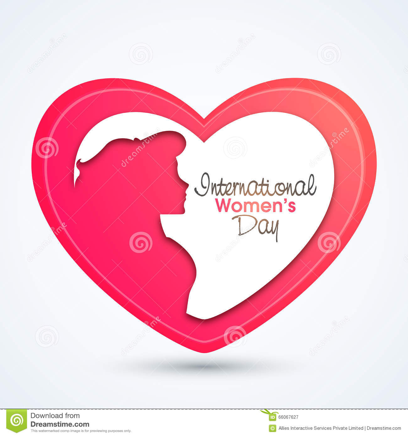 creative heart for international women's day stock illustration  - celebration creative day girl heart international