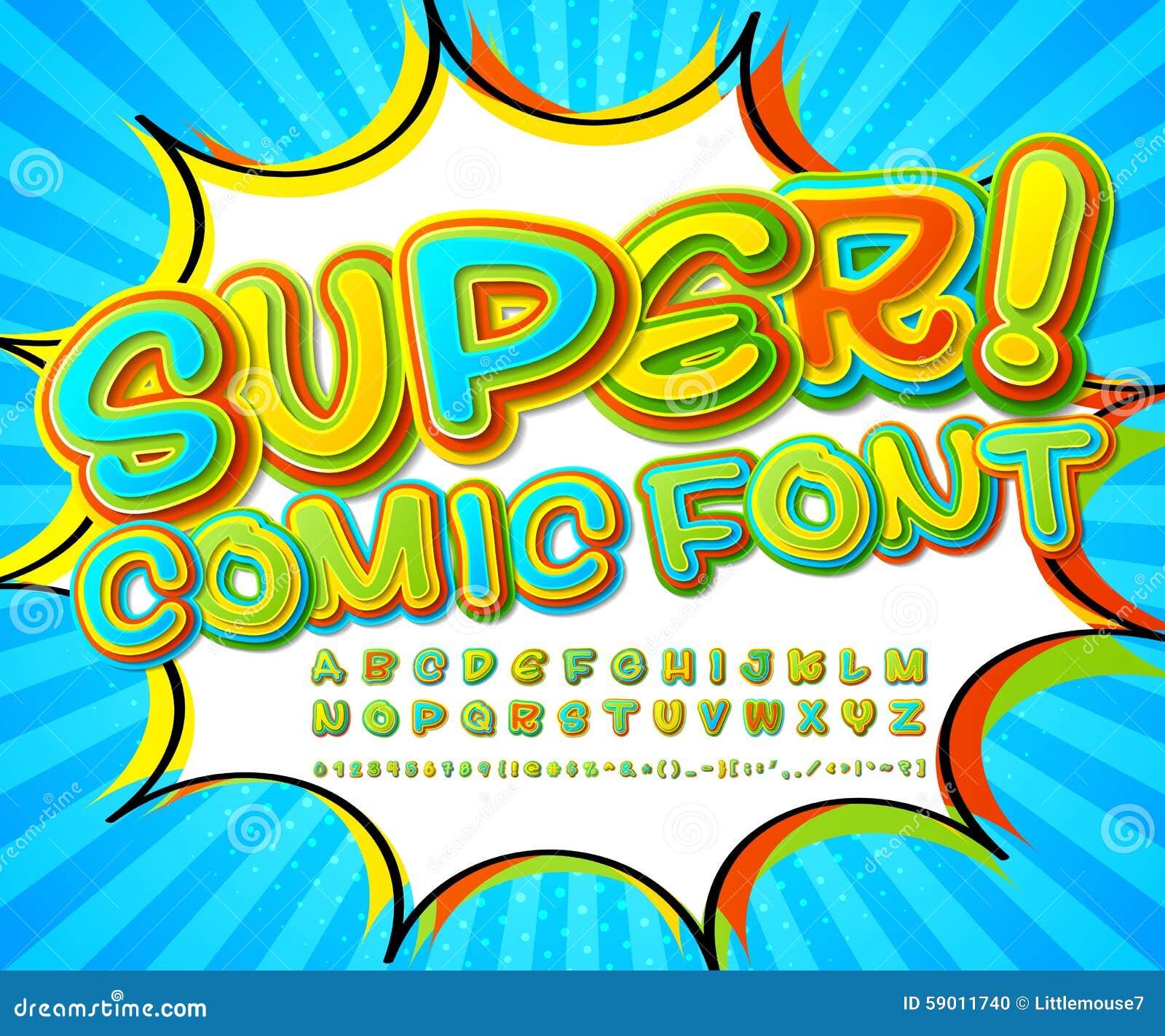 Creative Colorful Comic Font. Alphabet In Style Comics, Pop Art ...