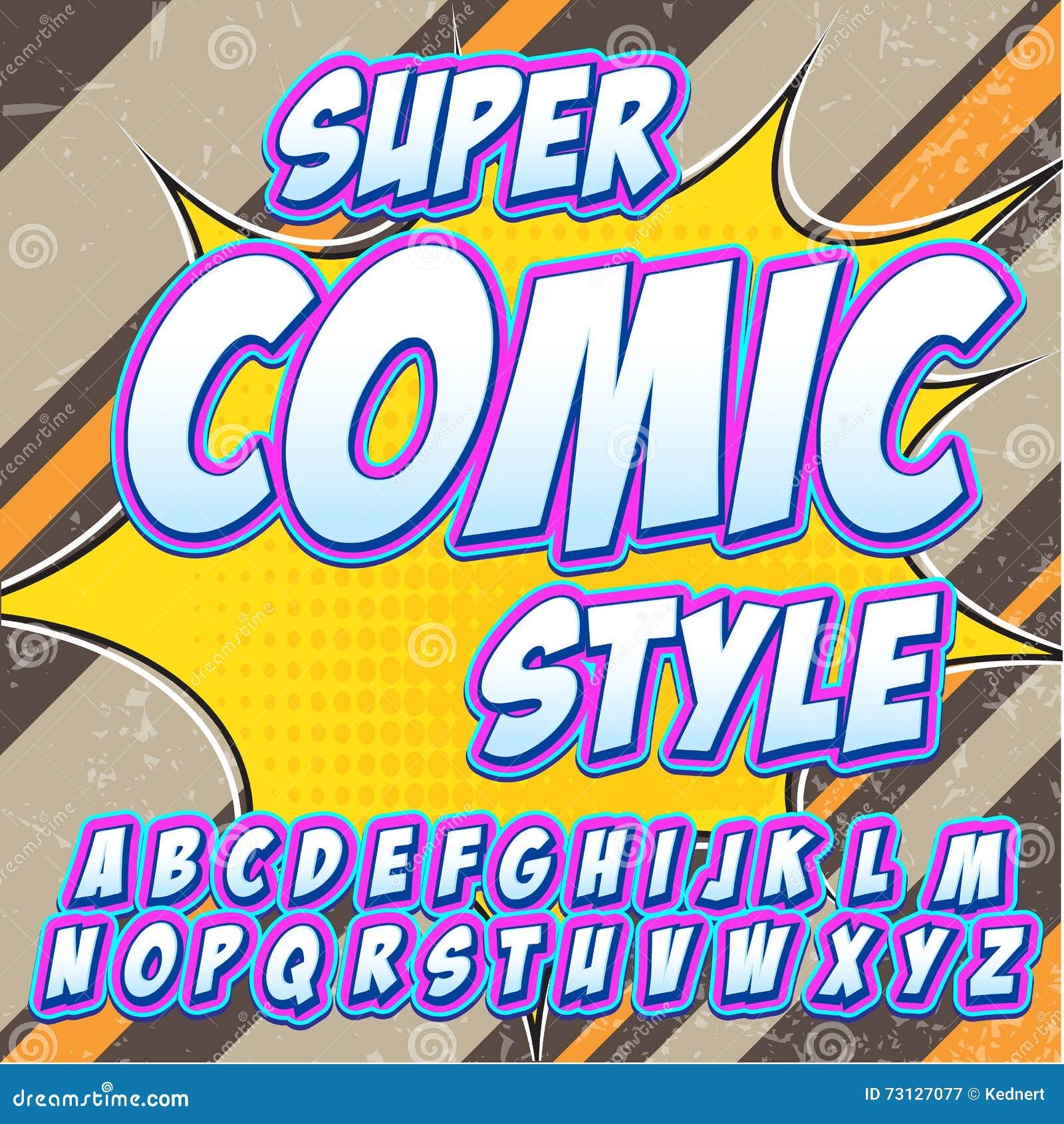 Creative high detail comic font alphabet in the style of comics creative high detail comic font alphabet in the style of comics pop art letters and figures for decoration altavistaventures Images