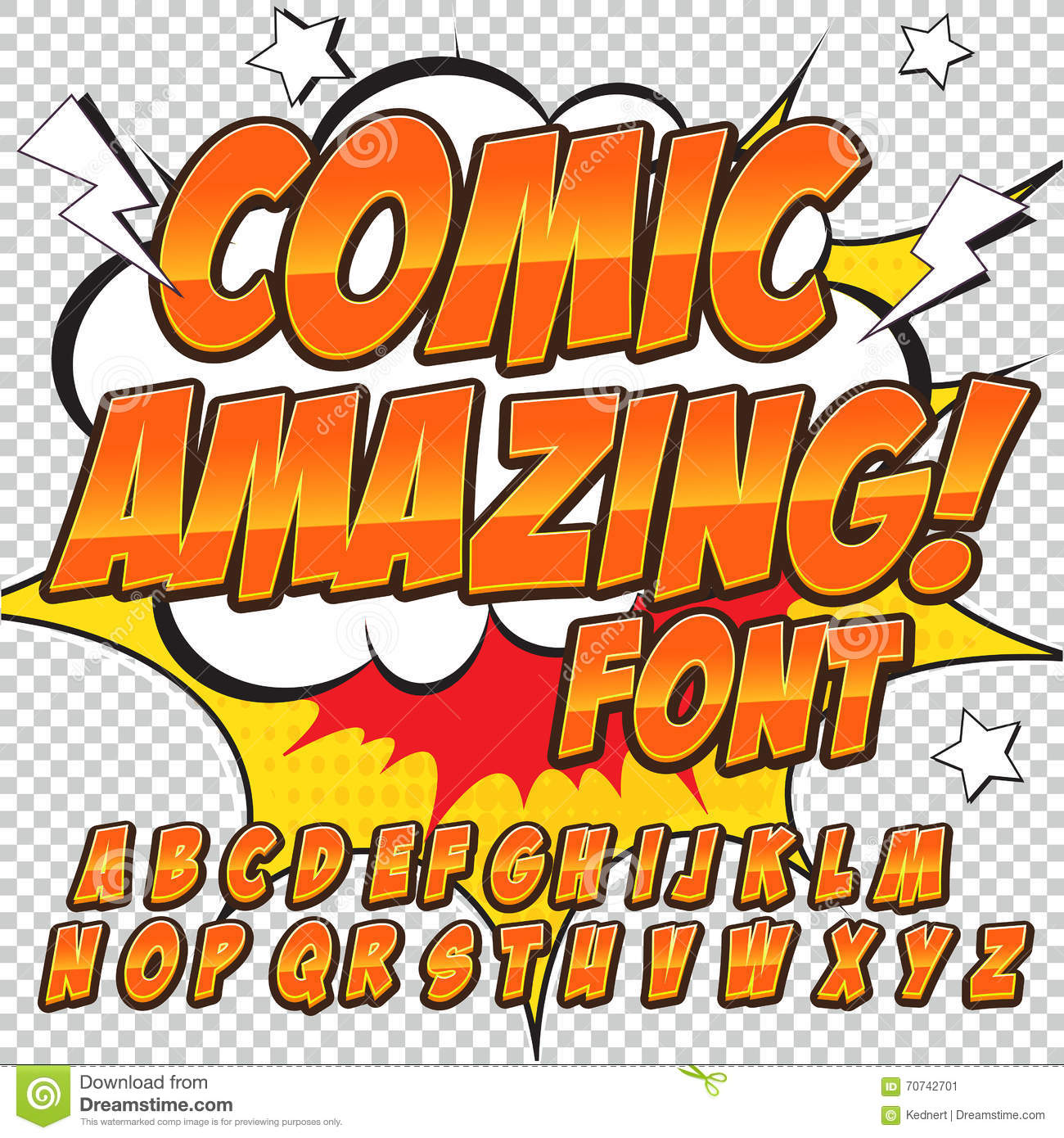 creative high detail comic font alphabet in the style of comics pop art letters and figures. Black Bedroom Furniture Sets. Home Design Ideas