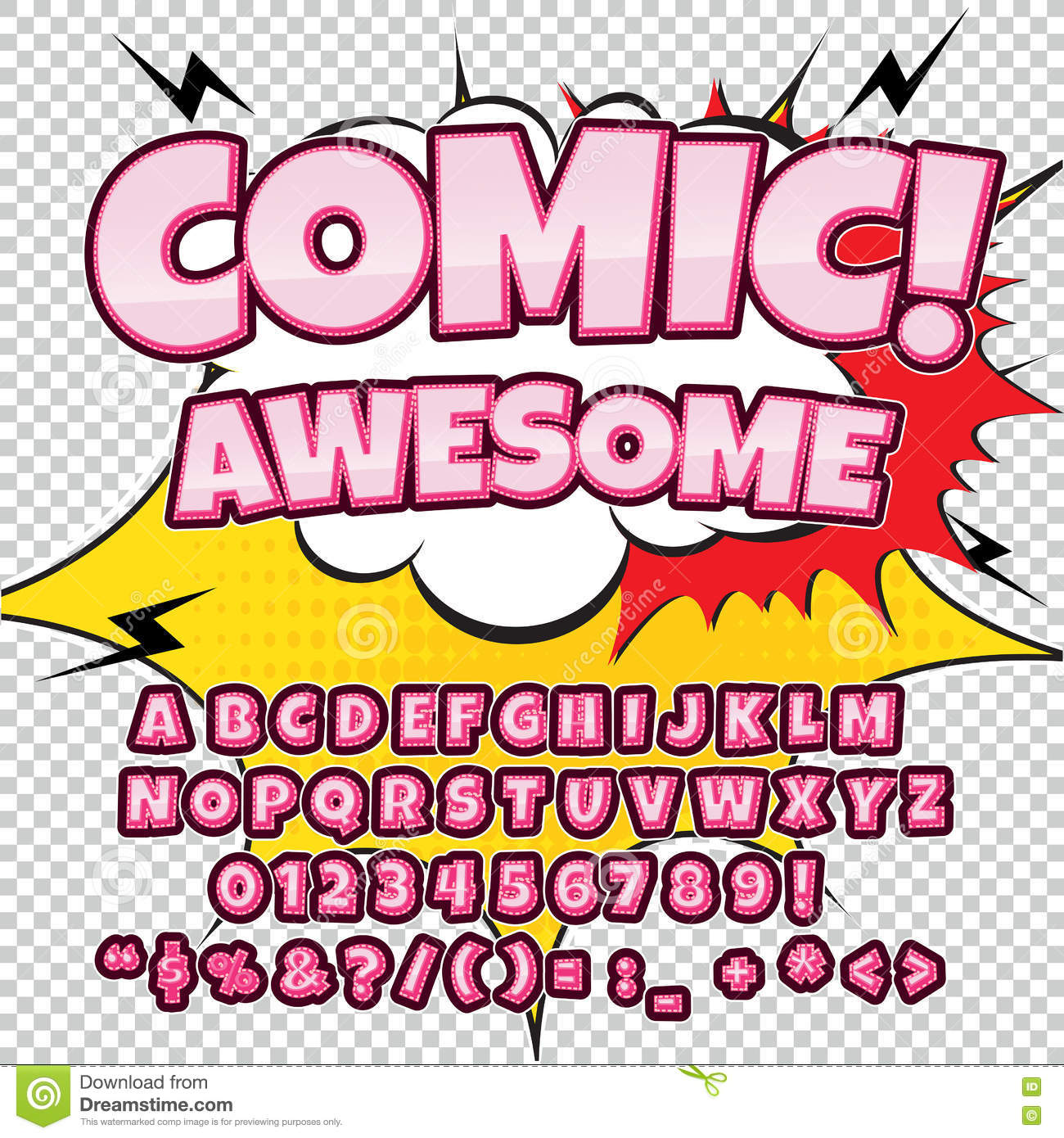 Popolare Creative High Detail Comic Font. Alphabet In The Style Of Comics  EE92