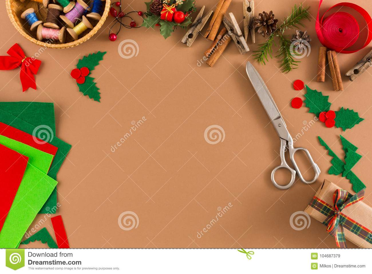 handmade tools for making christmas present stock image image of prepare