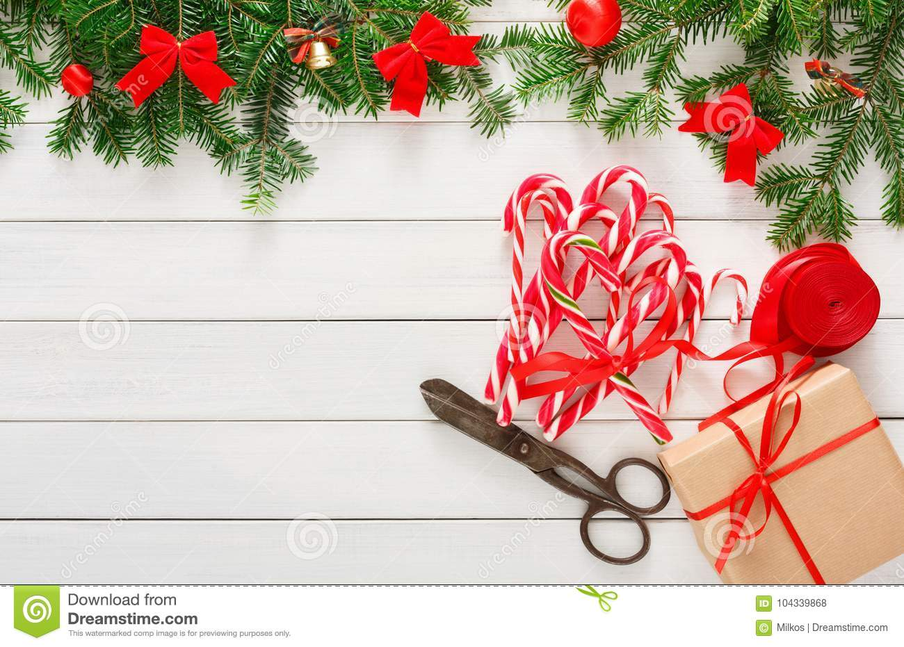 Creative Hobby. Making Christmas Presents, Top View Stock Photo ...