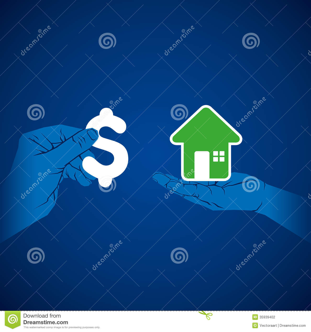 Finance Background: Creative Home Finance Concept Stock Photography
