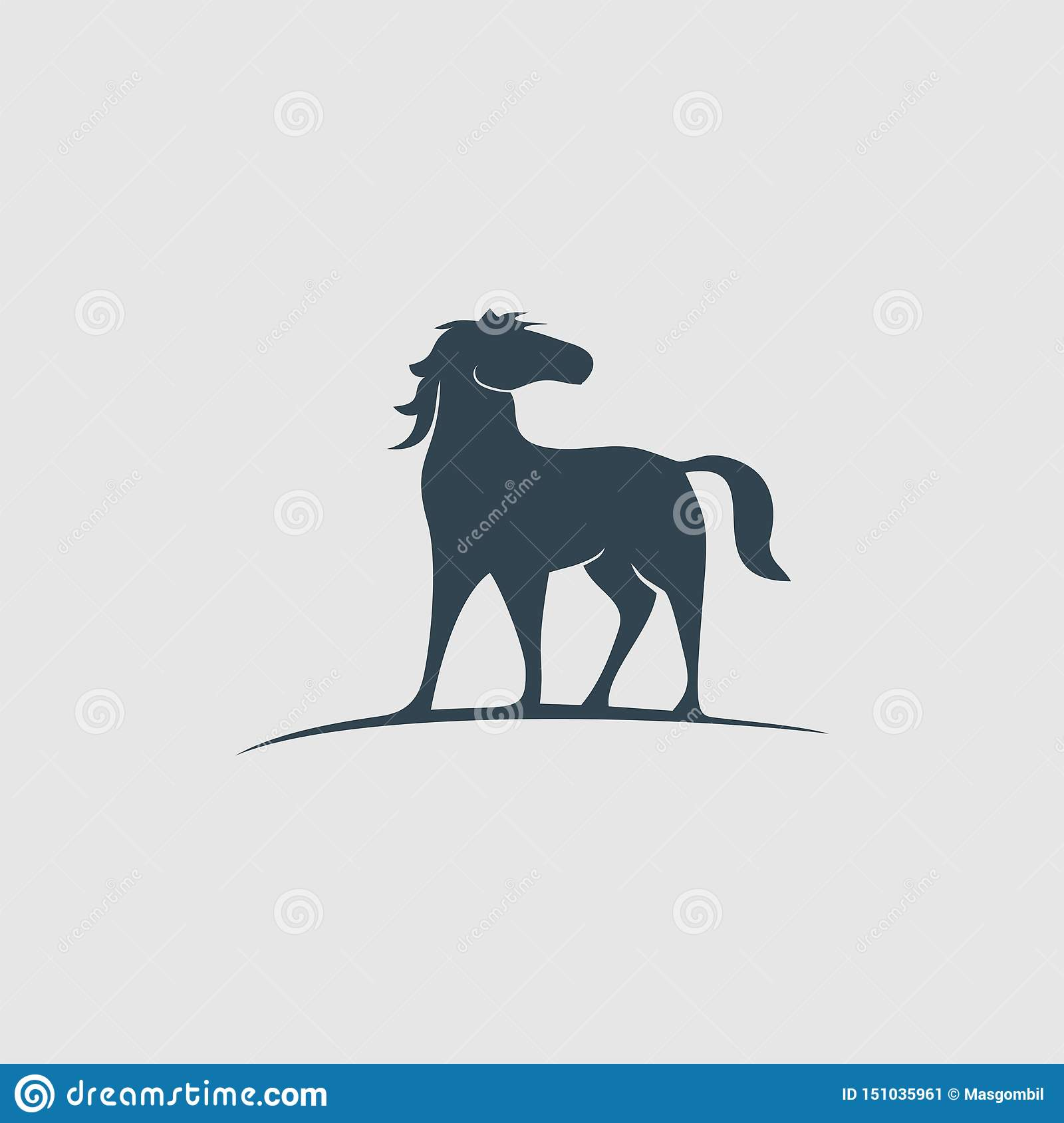 The Creative Horse Monogram Design Logo Inspiration Stock Vector Illustration Of Company Animal 151035961