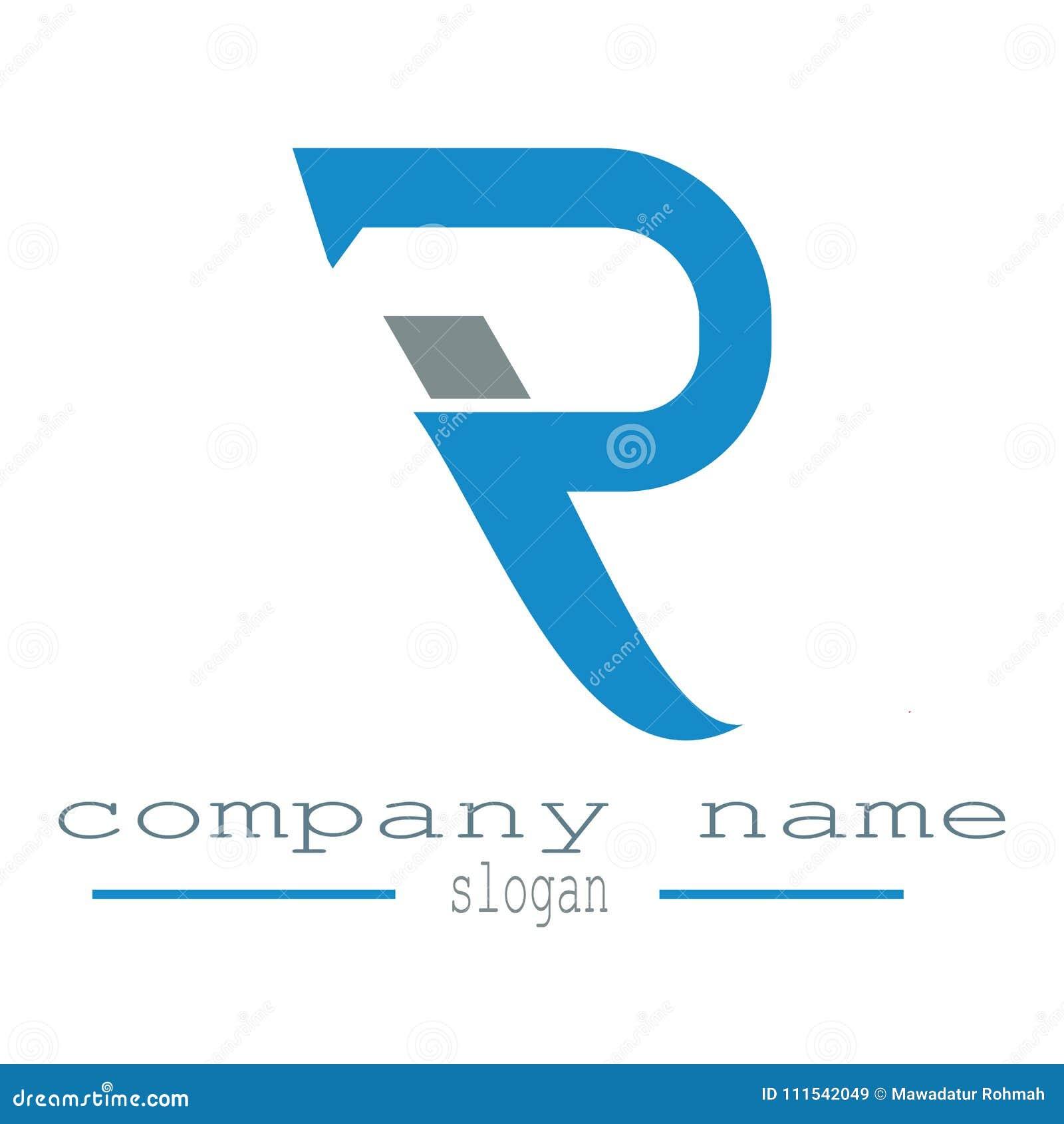 design letter r logo template data business stock vector