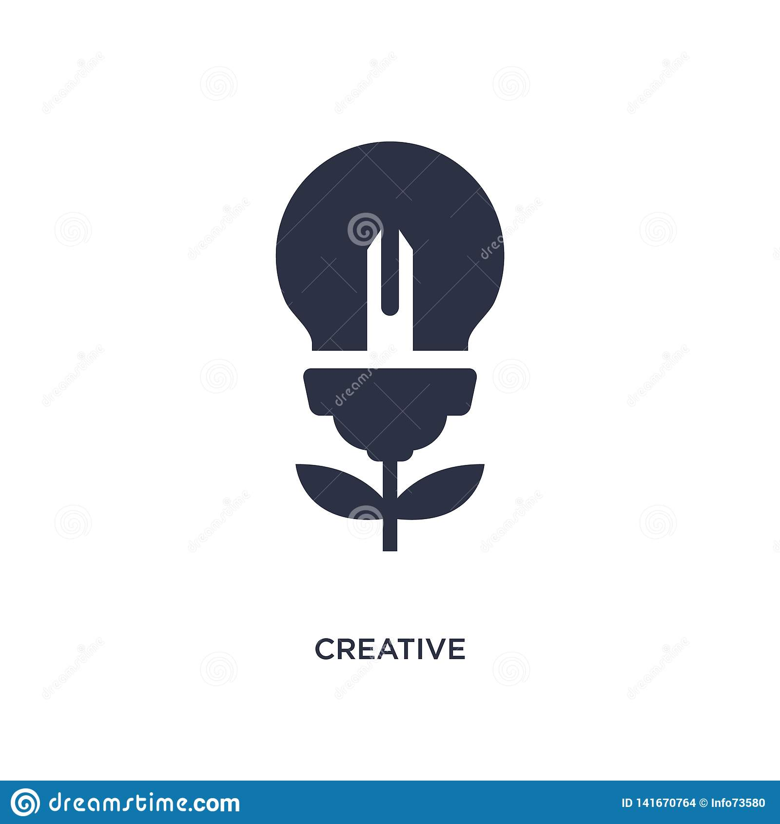 creative icon on white background. Simple element illustration from creative pocess concept