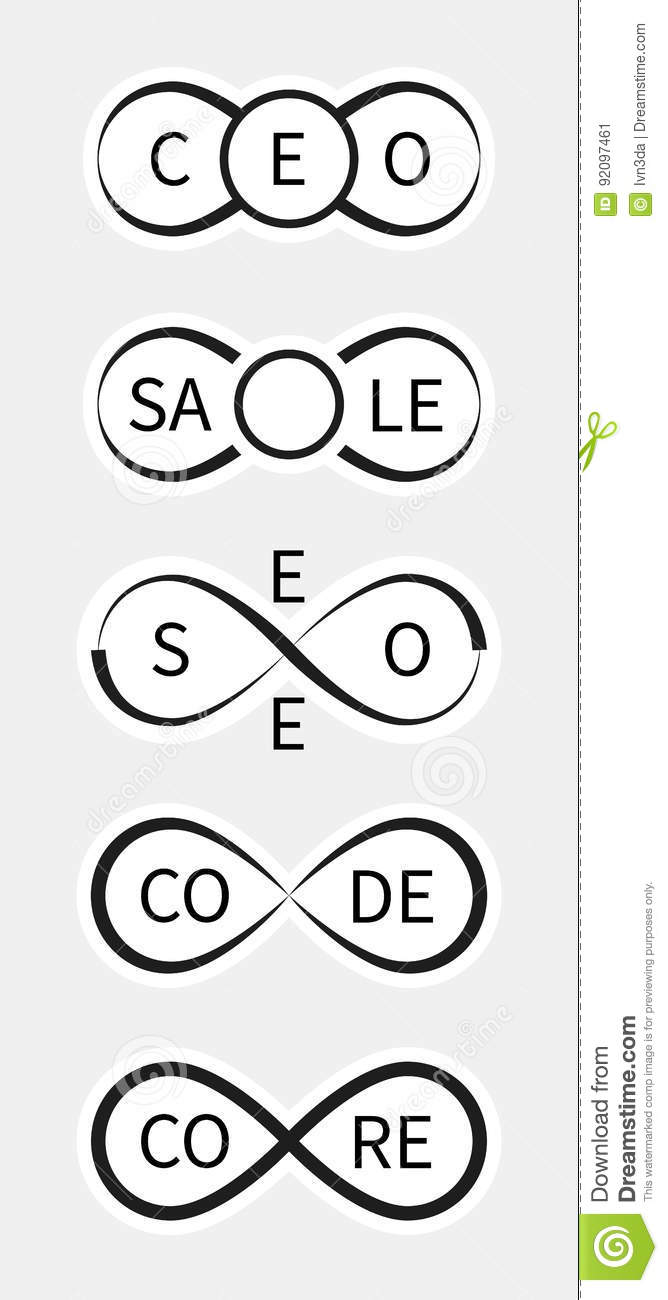 Creative Icons For Ceo Sale Seo Codecore Using The Infinity
