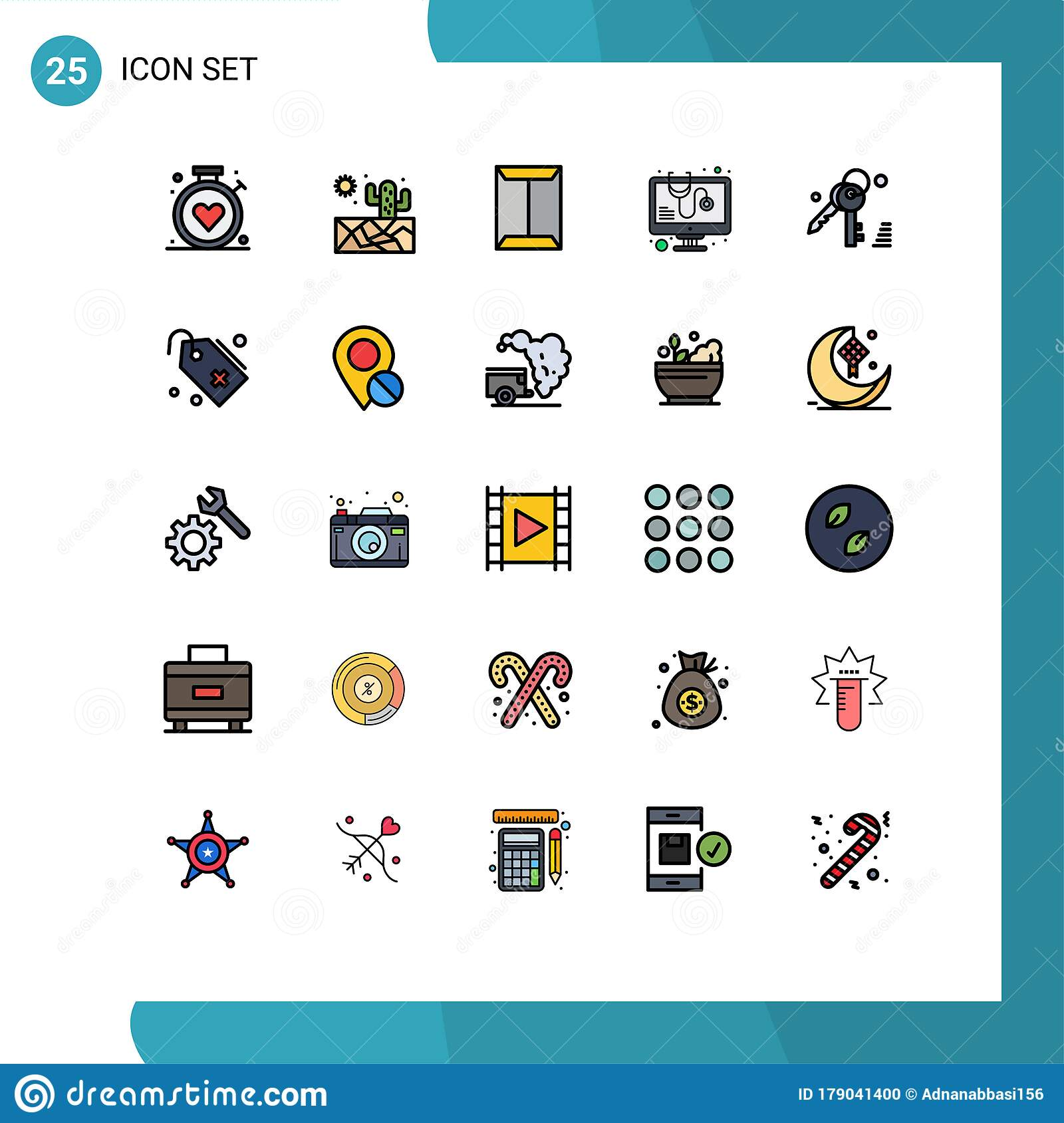 25 Creative Icons Modern Signs And Symbols Of Key Virus Rack Software Diagnosed Stock Vector Illustration Of Gdpr Cactus 179041400