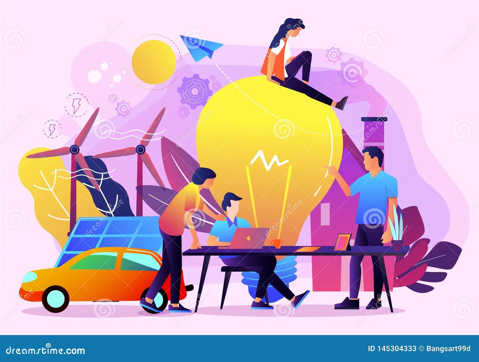 Creative idea business teamowrok vector illustration