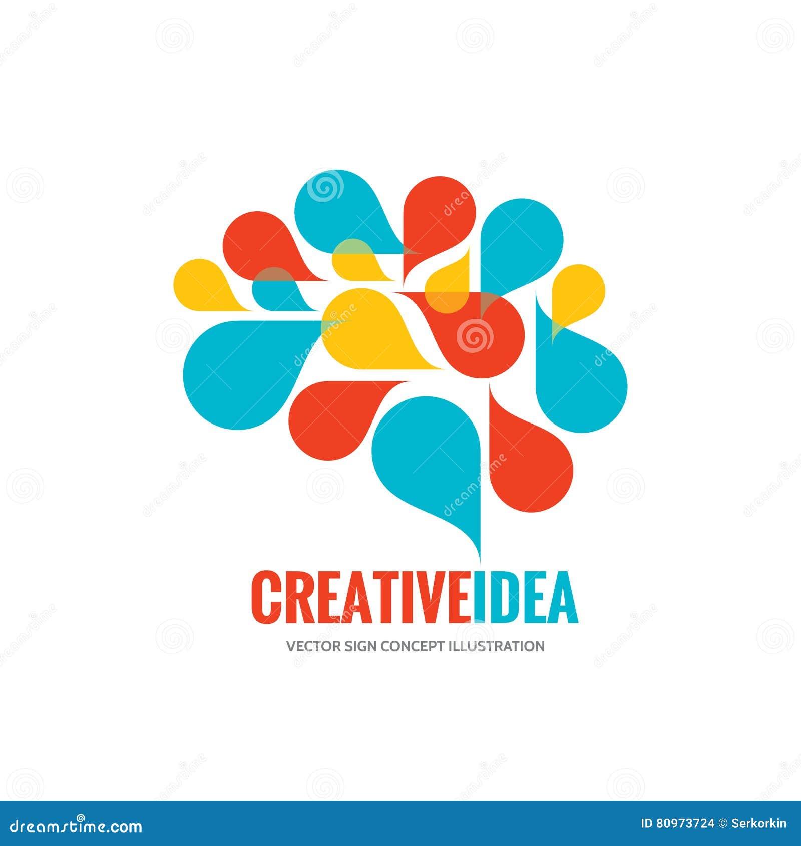 Creative idea - business vector logo template concept illustration. Abstract human brain creative sign. Infographic symbol.