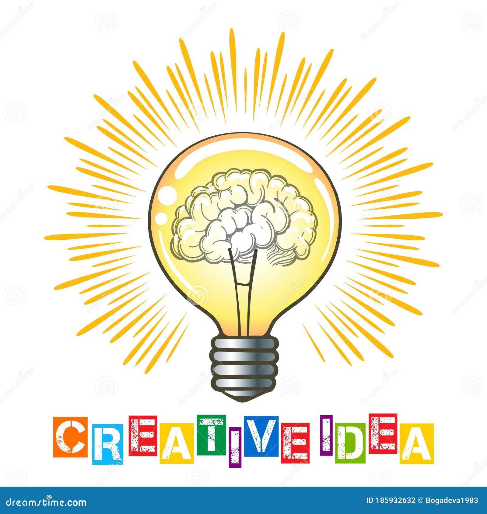 Creative Ideaicon:  Creative Idea Concept Illustration Stock Illustration