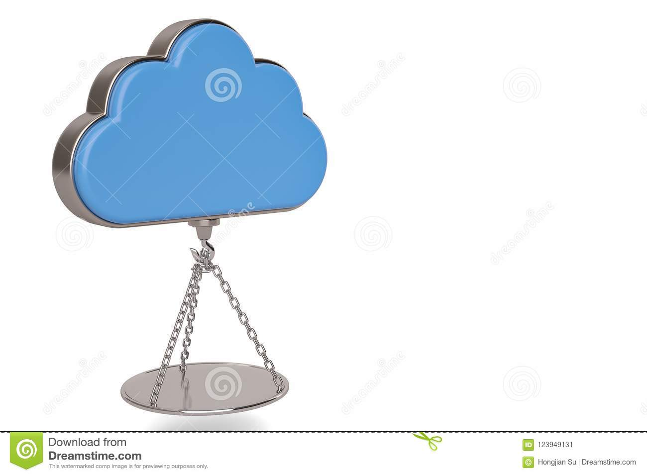 Creative Idea And Inspiration Cloud And Suspending Weighing Dish