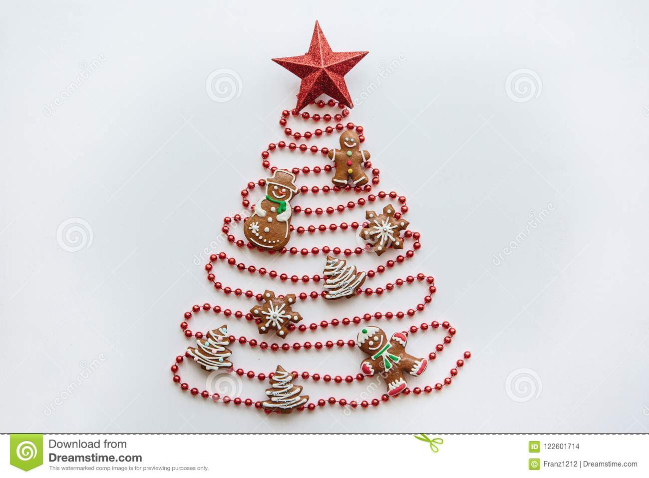 creative idea in minimalistic style for christmas or new year themes a christmas tree made