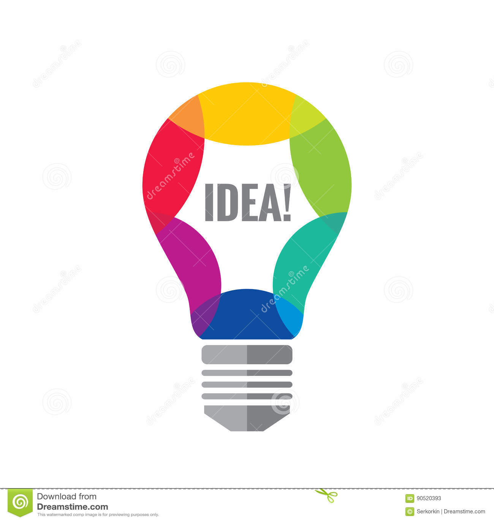 creative idea vector logo template concept illustration. Black Bedroom Furniture Sets. Home Design Ideas