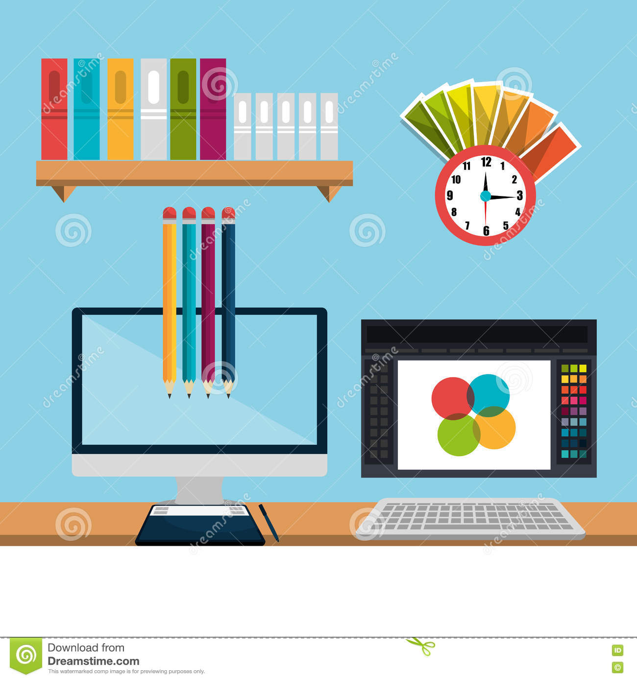 Download Creative Ideas Graphic Designer Stock Illustration   Illustration  Of Office, Element: 63462086