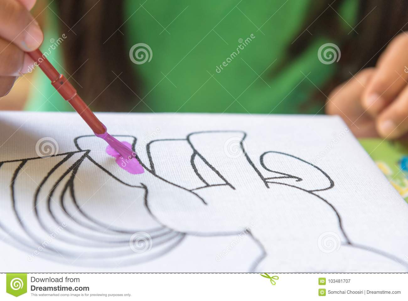 Child S Hands Drawing Stock Image Image Of Pencil Drawing 103481707