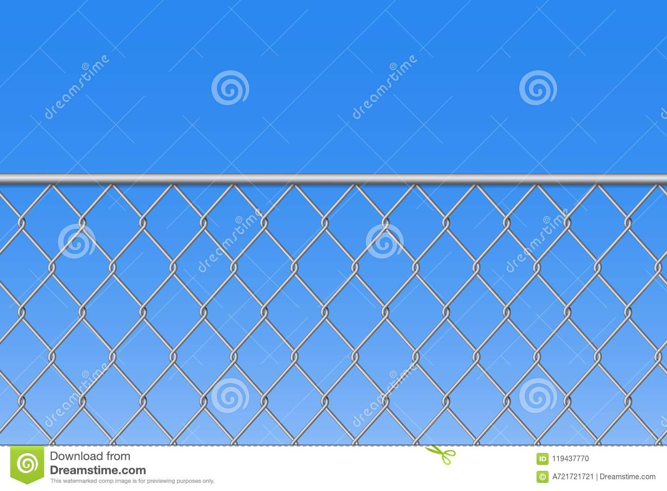 Creative Illustration Of Chain Link Fence Wire Mesh Steel Metal ...