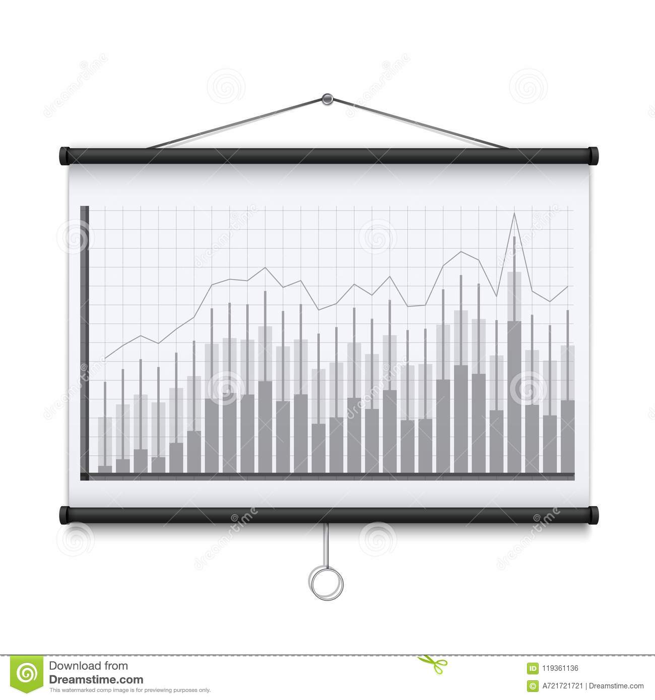 Creative Illustration Of Empty Meeting Projector Screen