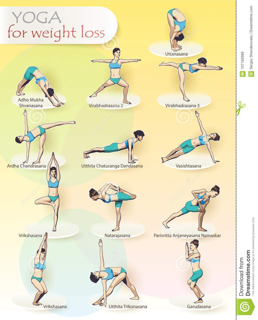 YOGA for weight loss stock vector. Illustration of healing   20