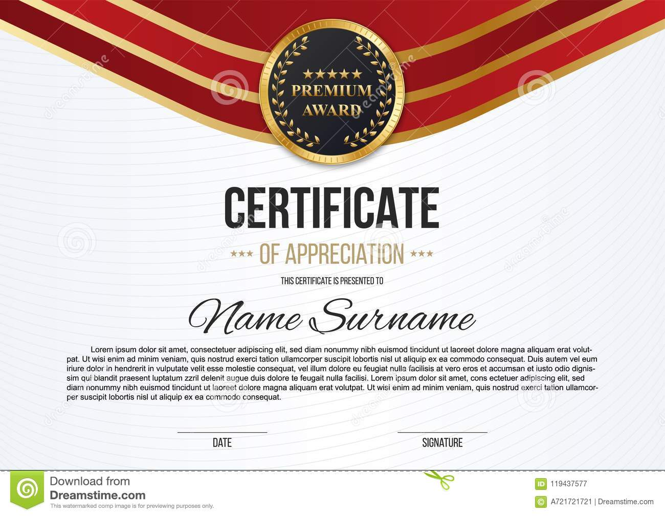 creative illustration of stylish certificate template of