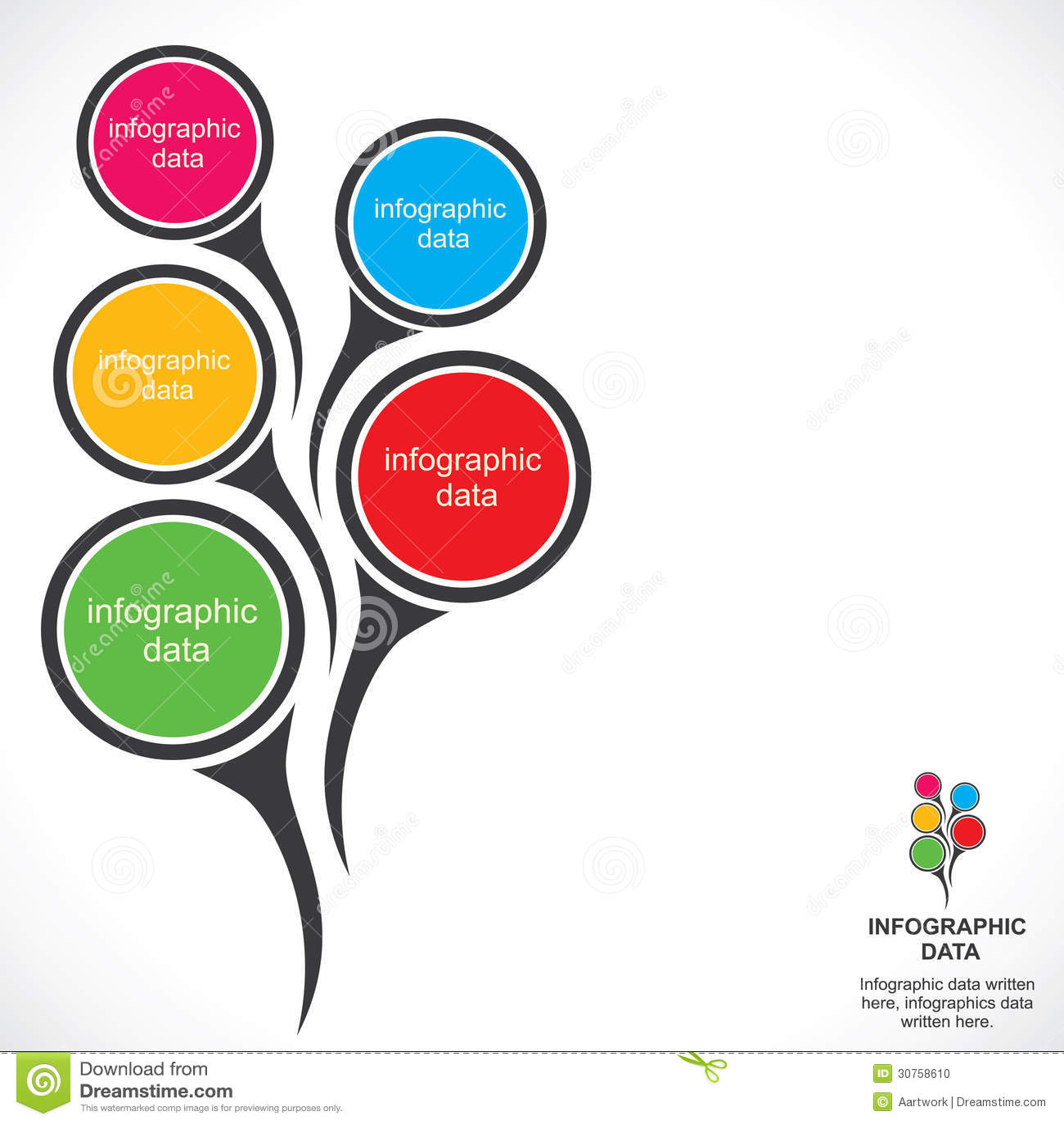 Creative Infographic Design Stock Photo - Image: 30758610