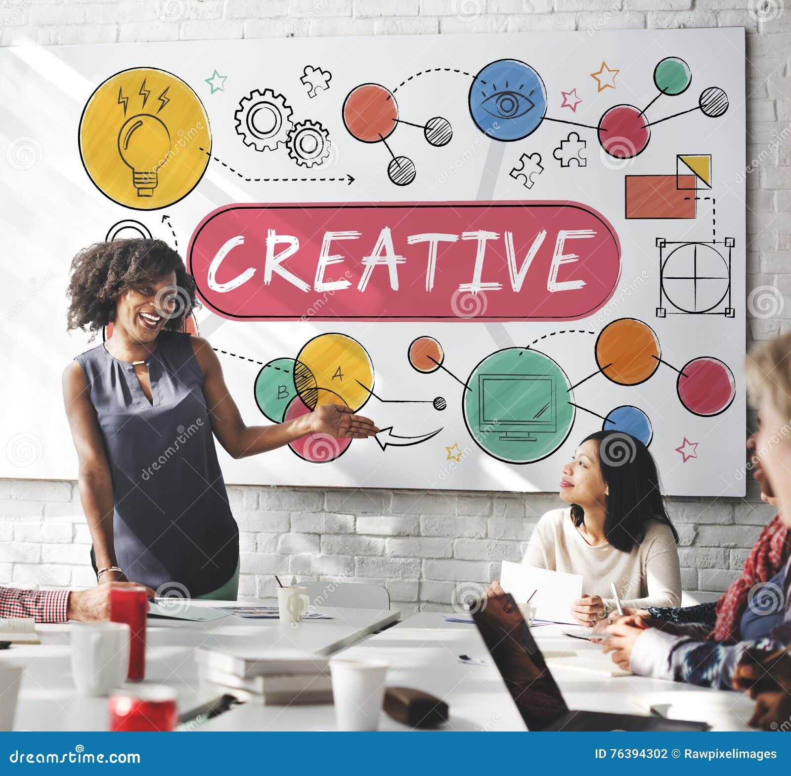 Creative Innovation Ideas Process Drawing Concept Stock Illustration