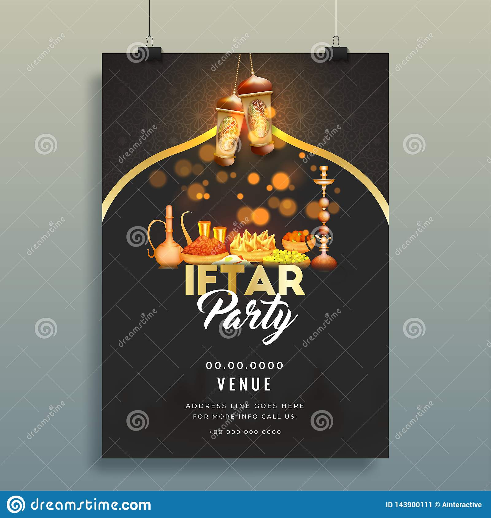 creative invitation card design with venue details