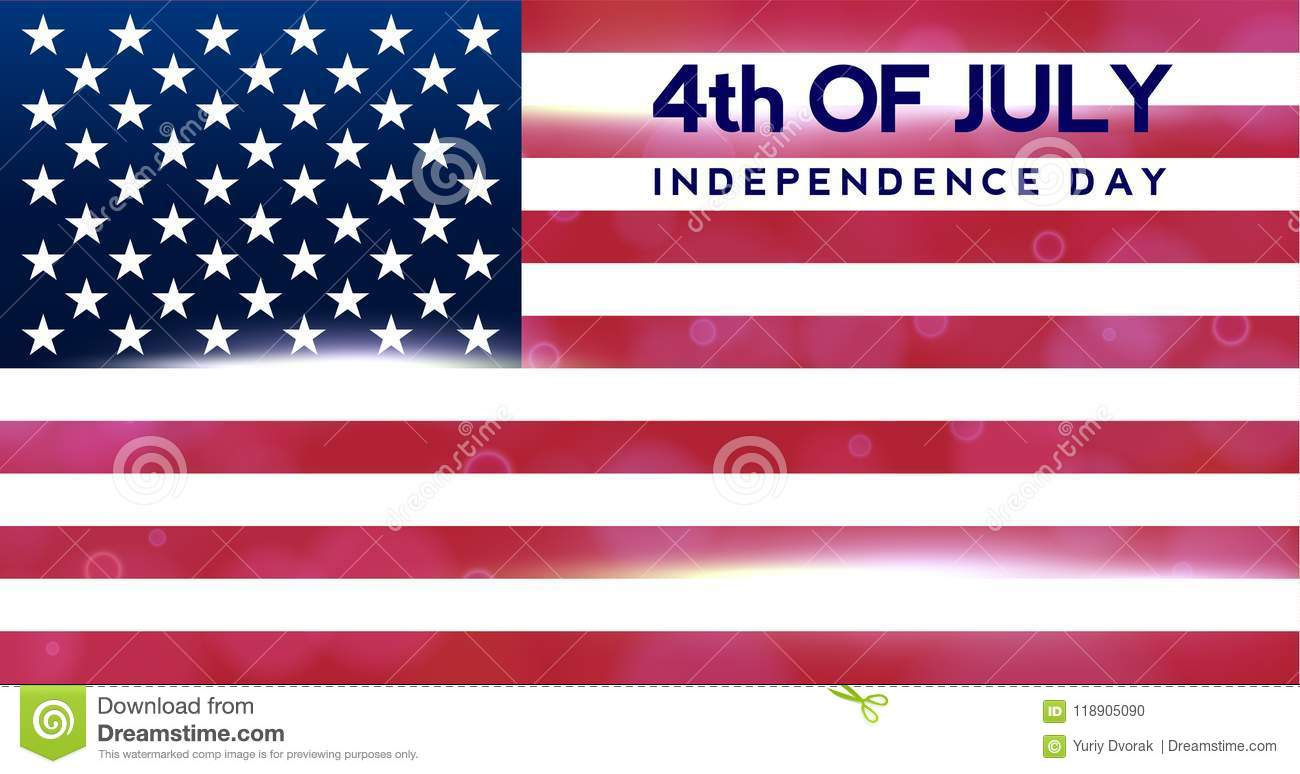 Creative Invitation Flyer Decorated American Independence Day Party ...