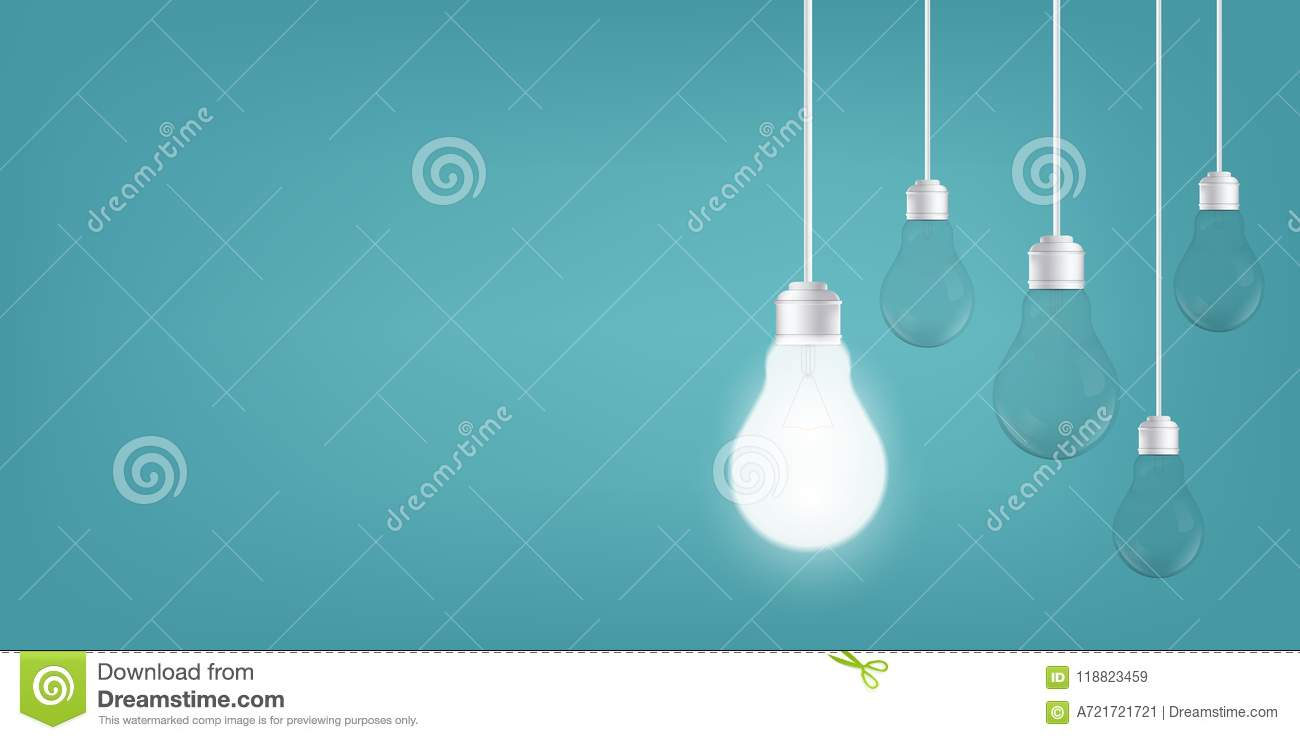 Creative Of Isolated Light Bulbs On Background Art Design Incandescent Bulb Diagram Illustration New Ideas With Innovation