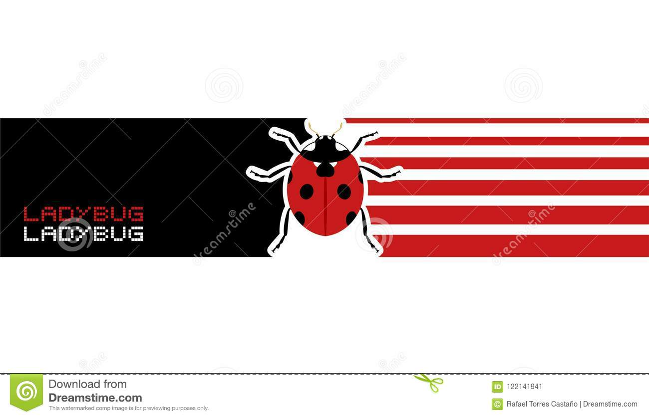 creative ladybug banner stock illustration illustration of