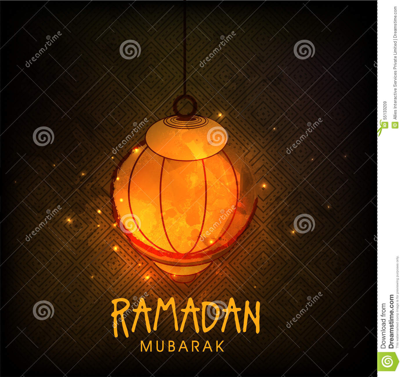 Creative lantern for Ramadan Mubarak celebration.