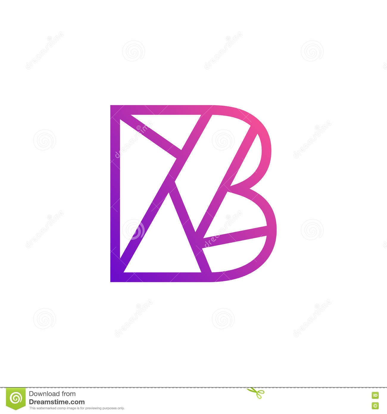 Creative Letter B Symbol Illustration Stock Vector  Illustration Of