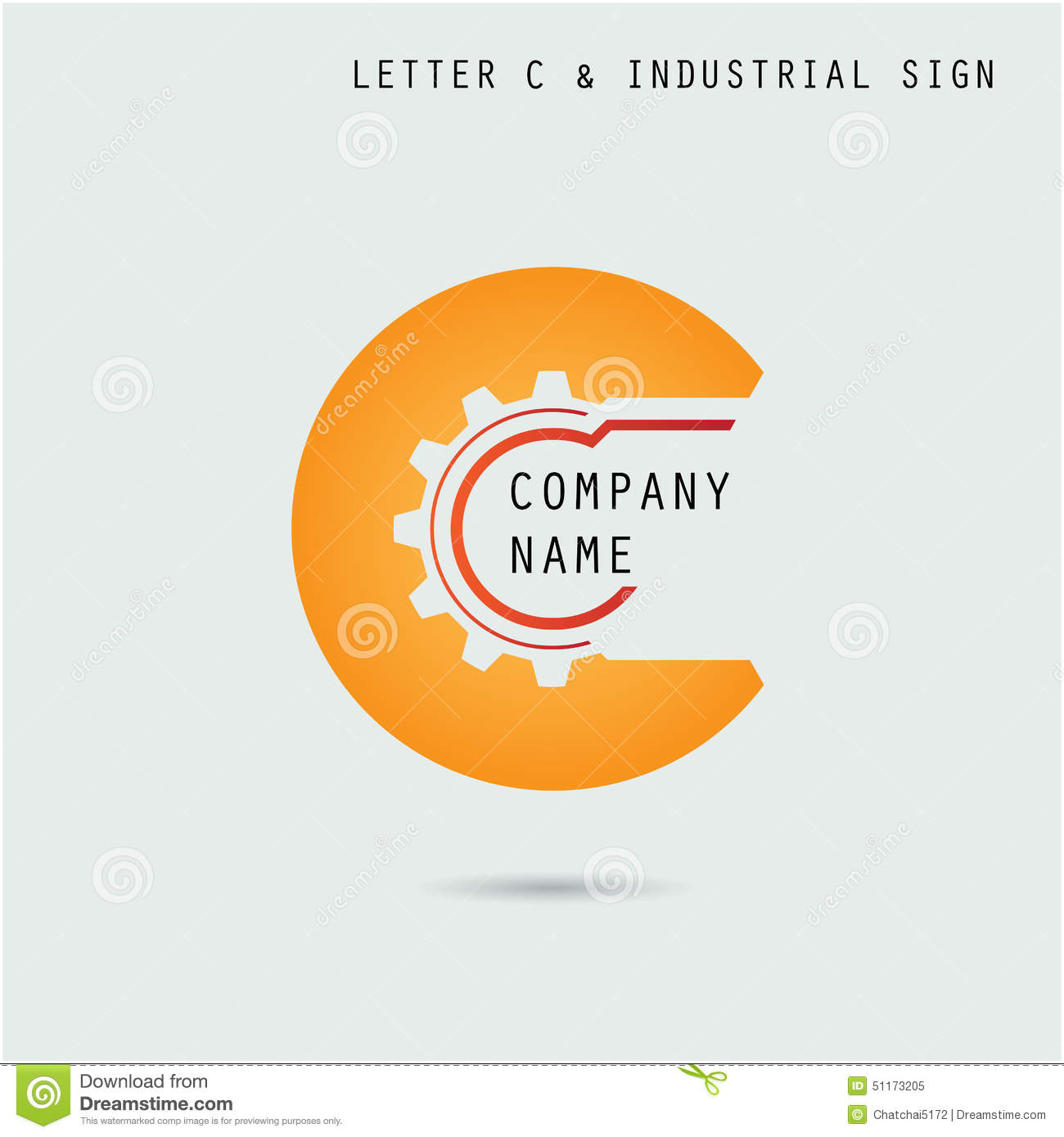 Creative letter c icon abstract logo design vector for Industrial design company