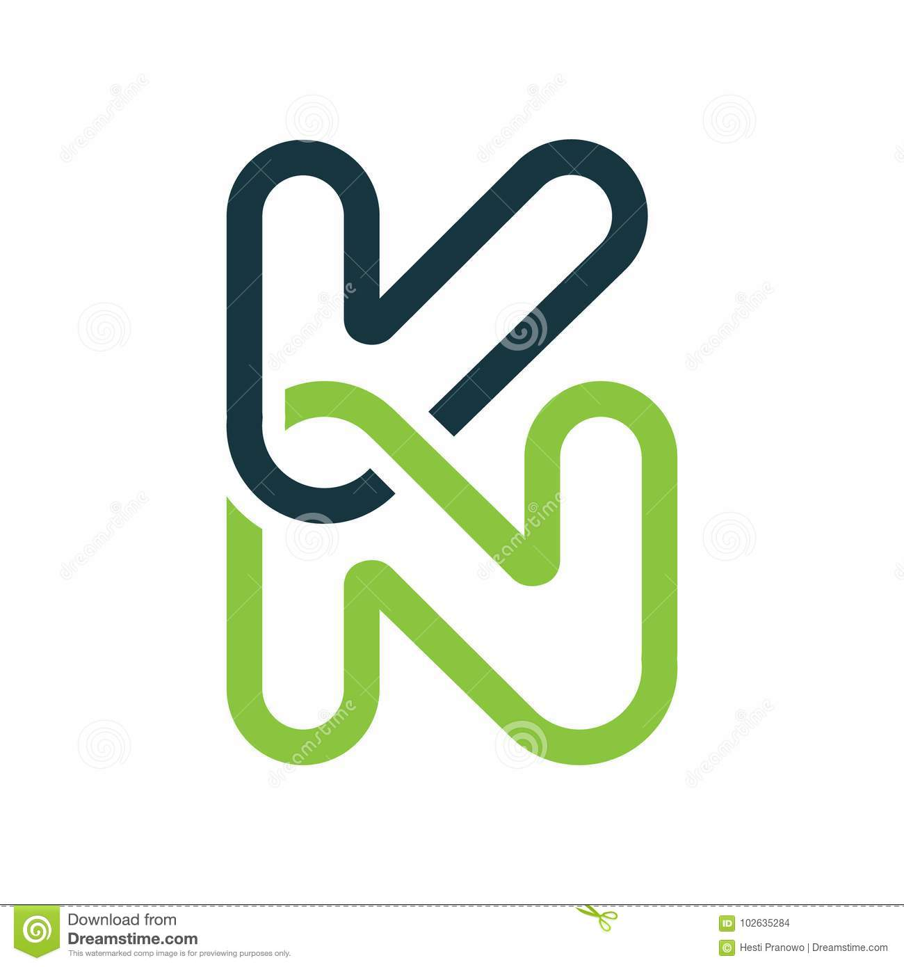 Creative letter kn logo abstract business logo design template creative letter kn logo abstract business logo design template accmission Image collections