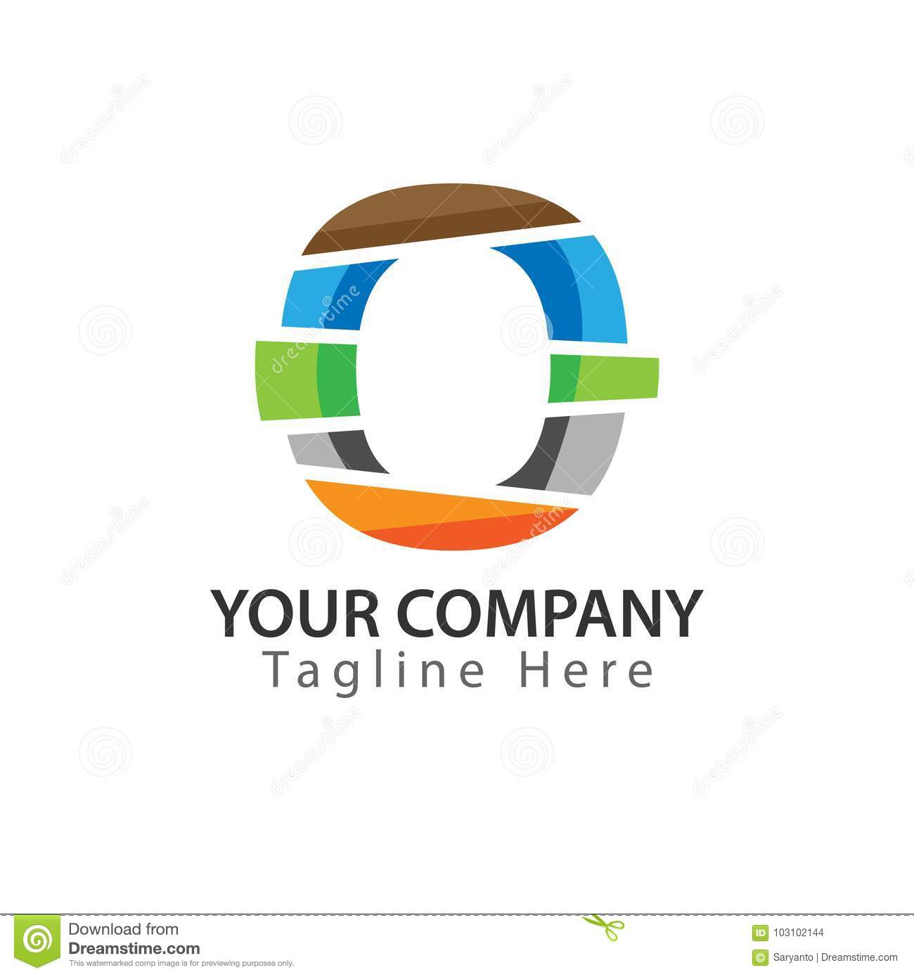 Creative Letter O Logo Design Colorful Logos Have A Cheerful Happy