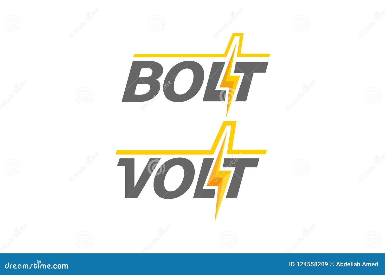 Creative Letter Power Bolt Text Symbol Design Stock Vector