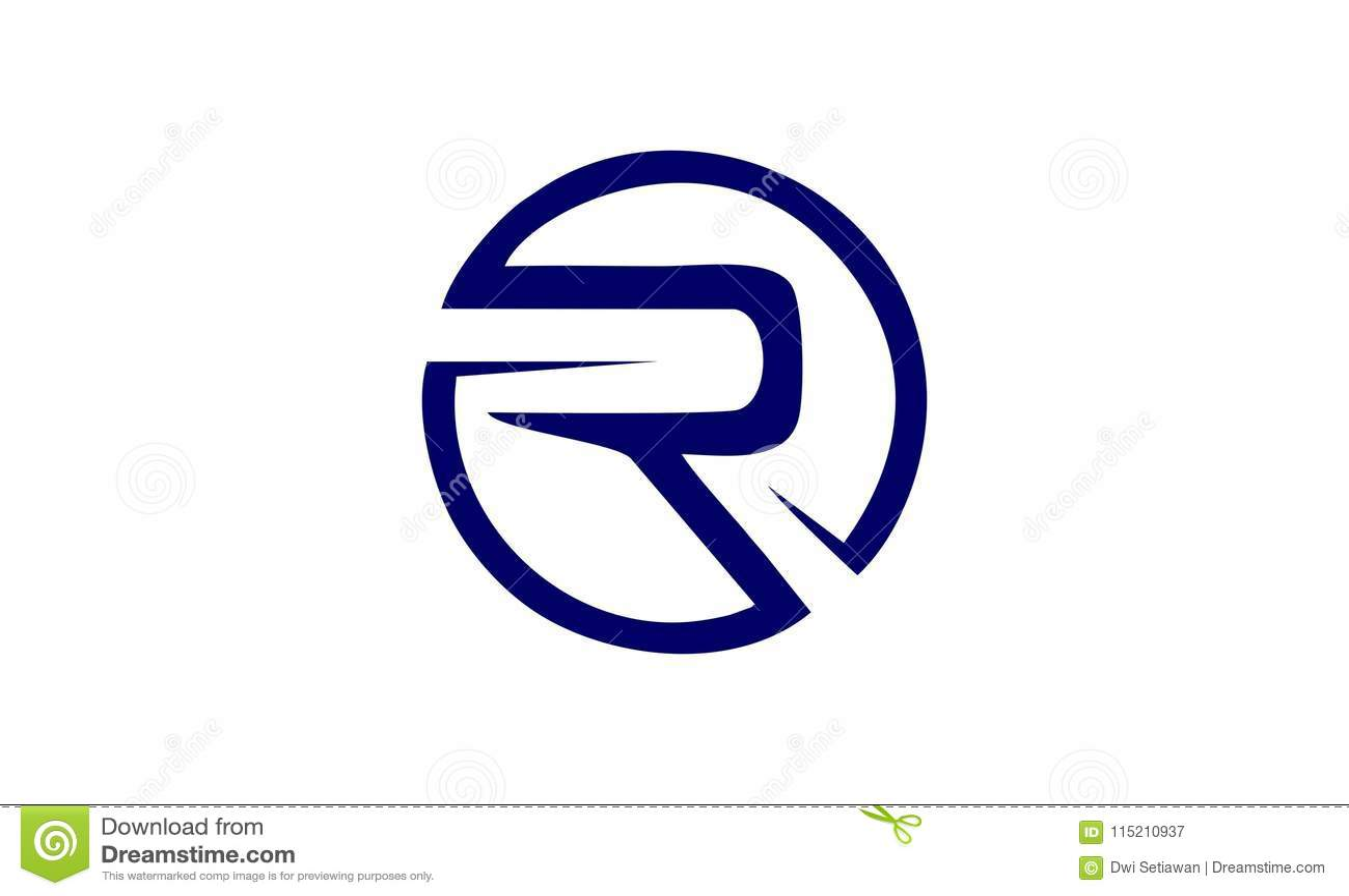 creative letter r design logo