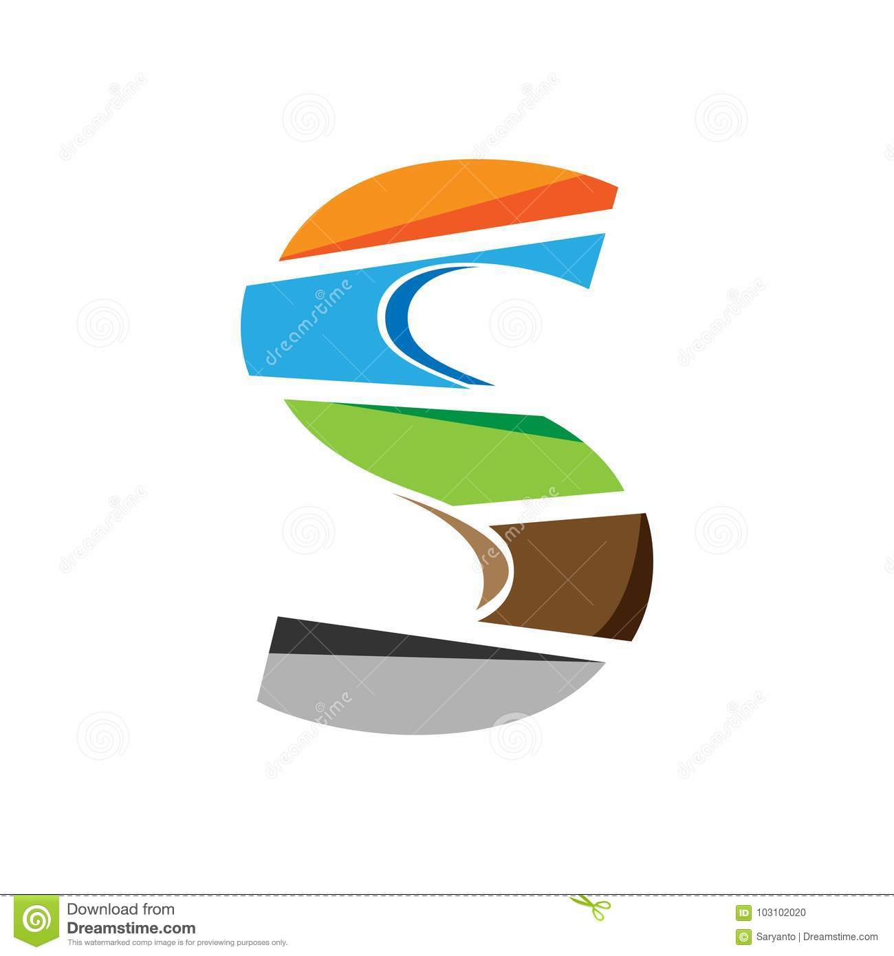 Creative Letter S Logo Design Colorful Logos Have A Cheerful Happy