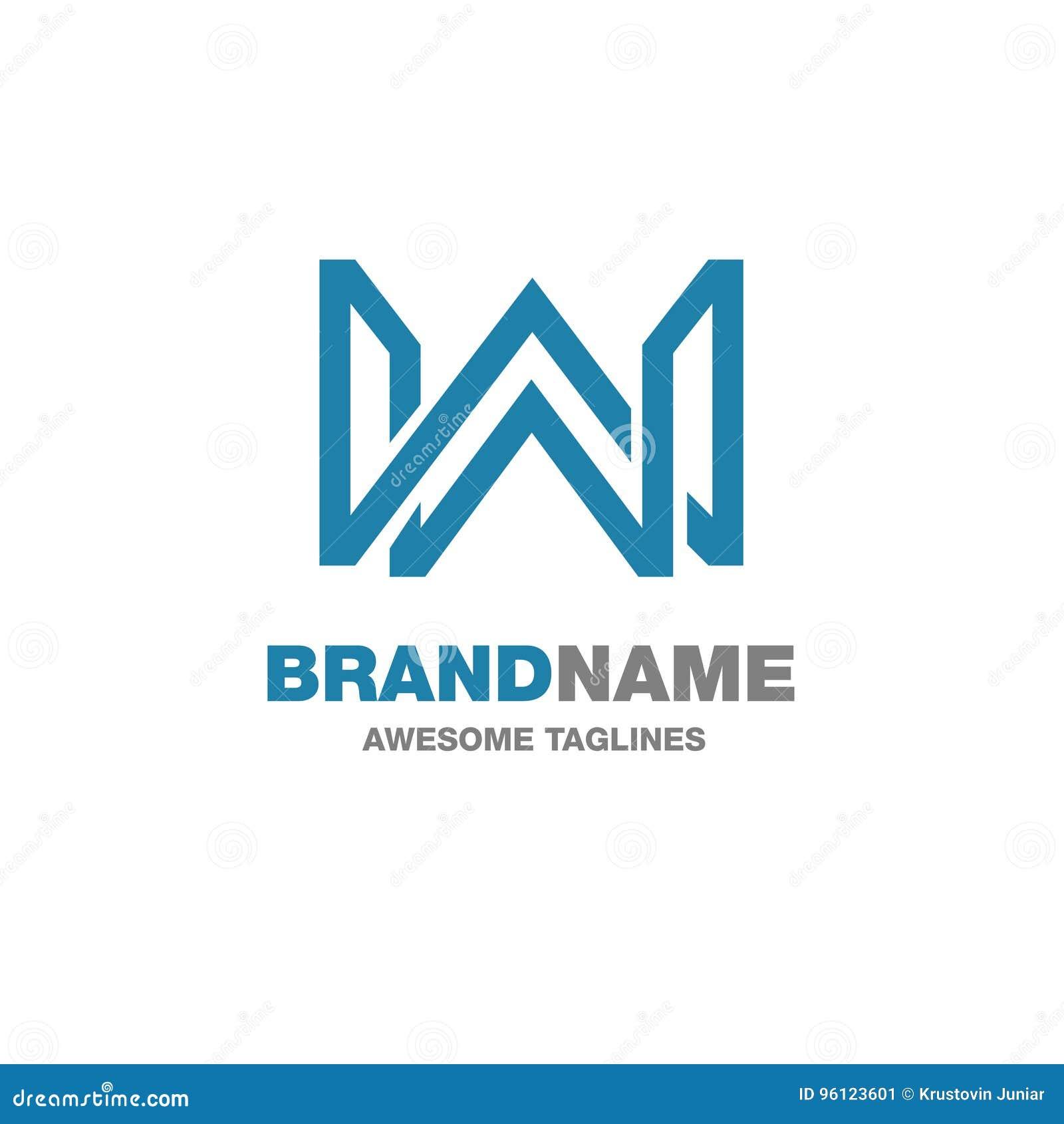 Creative letter W logo