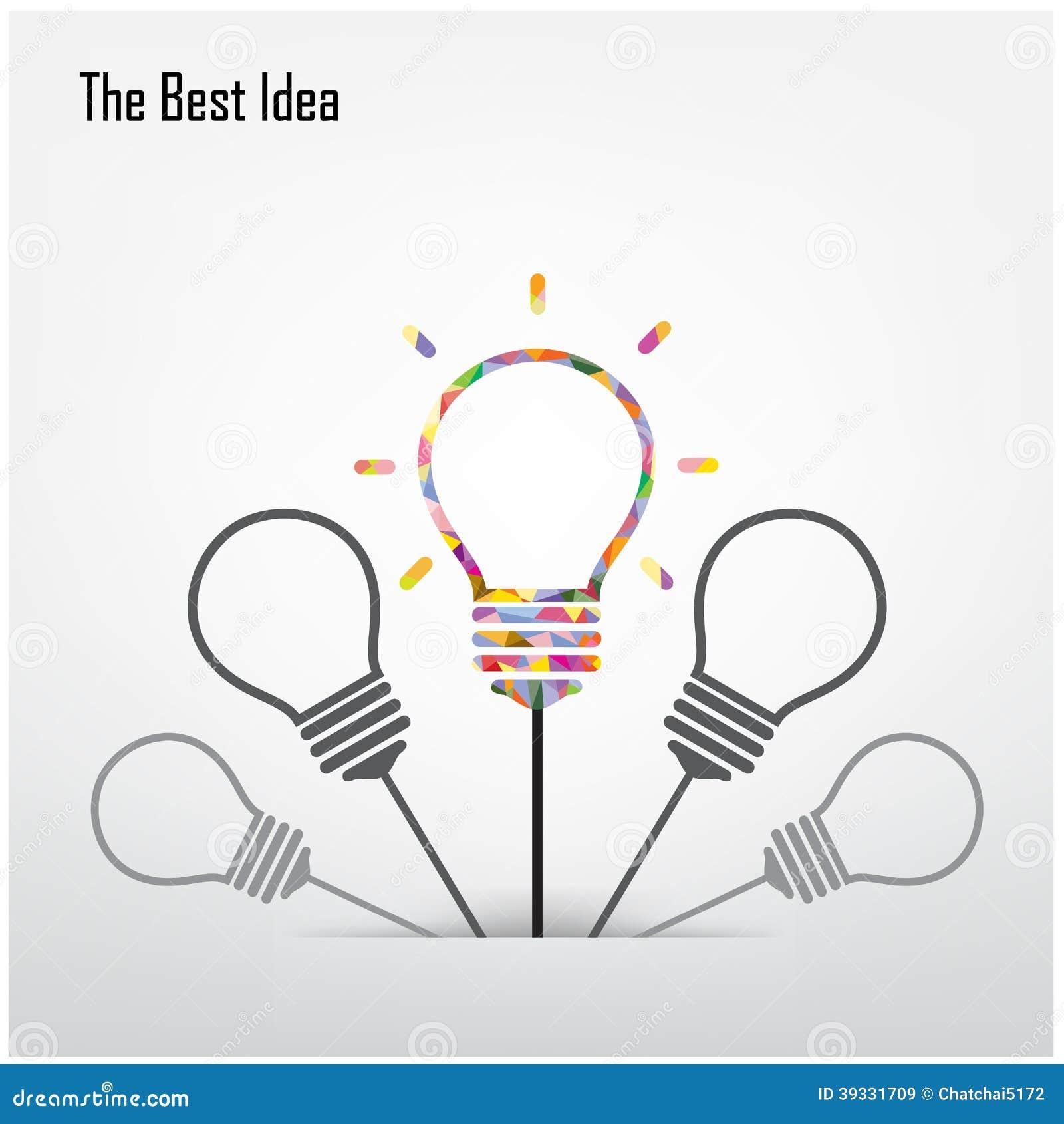 creative light bulb and the best idea concept stock vector