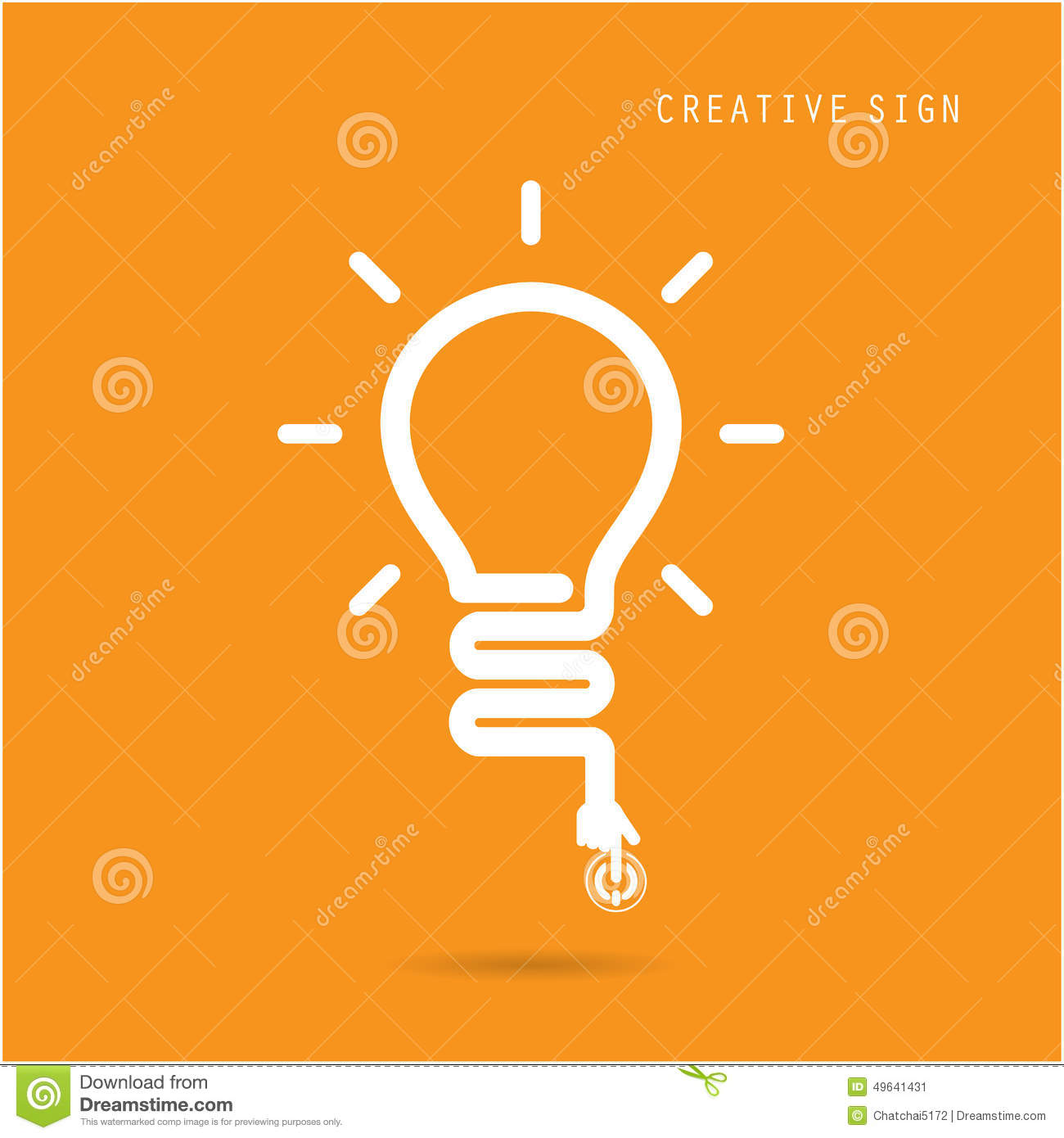 Creative Light Bulb Concept, Design For Poster Flyer Cover ...