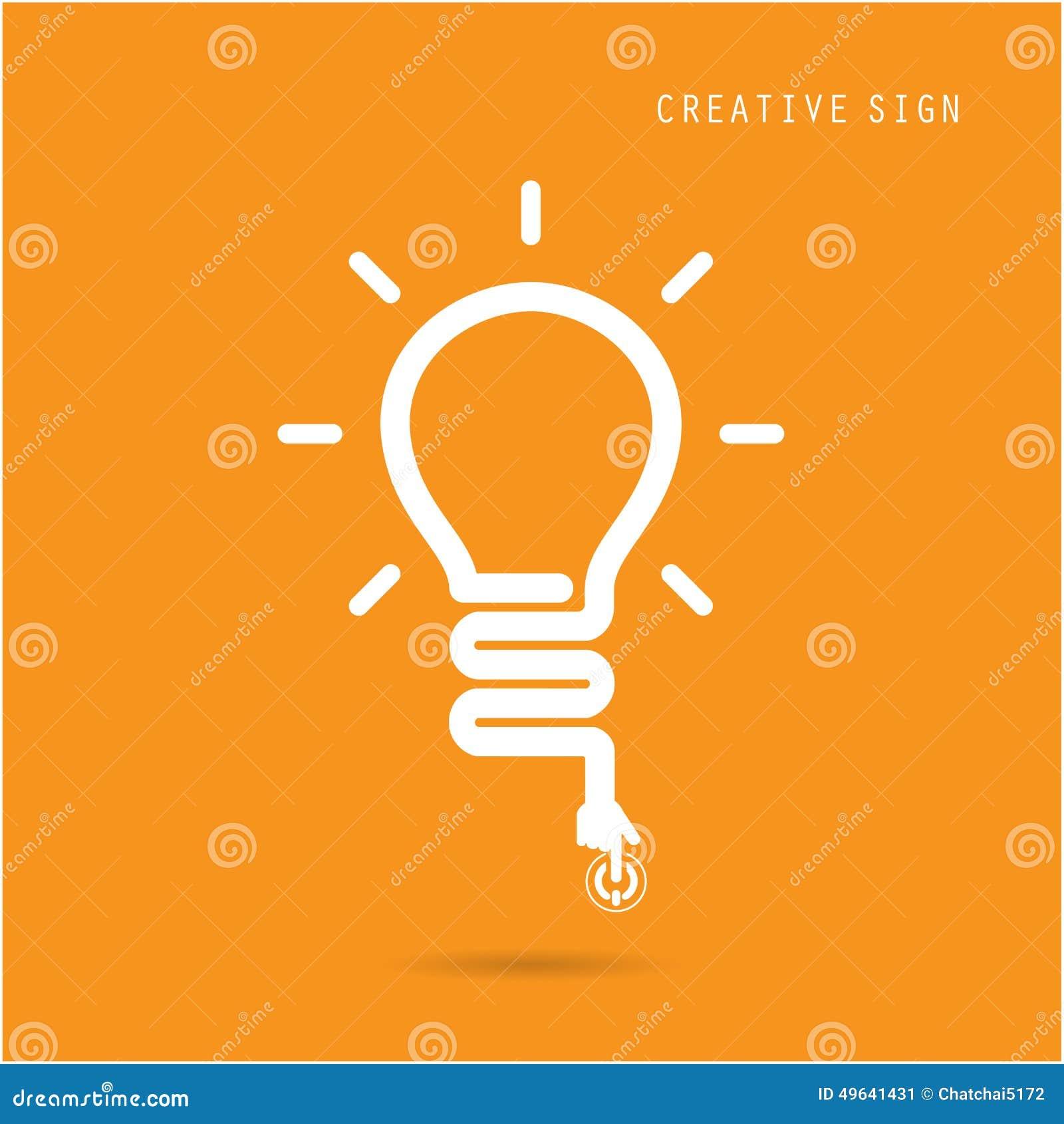Creative Light Bulb Concept Design For Poster Flyer Cover