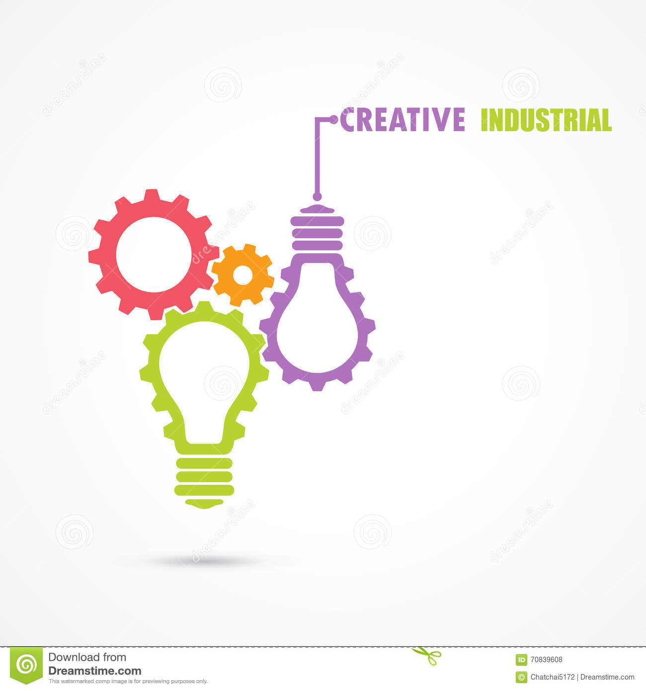 Creative Light Bulb And Gear Abstract Vector Design Stock